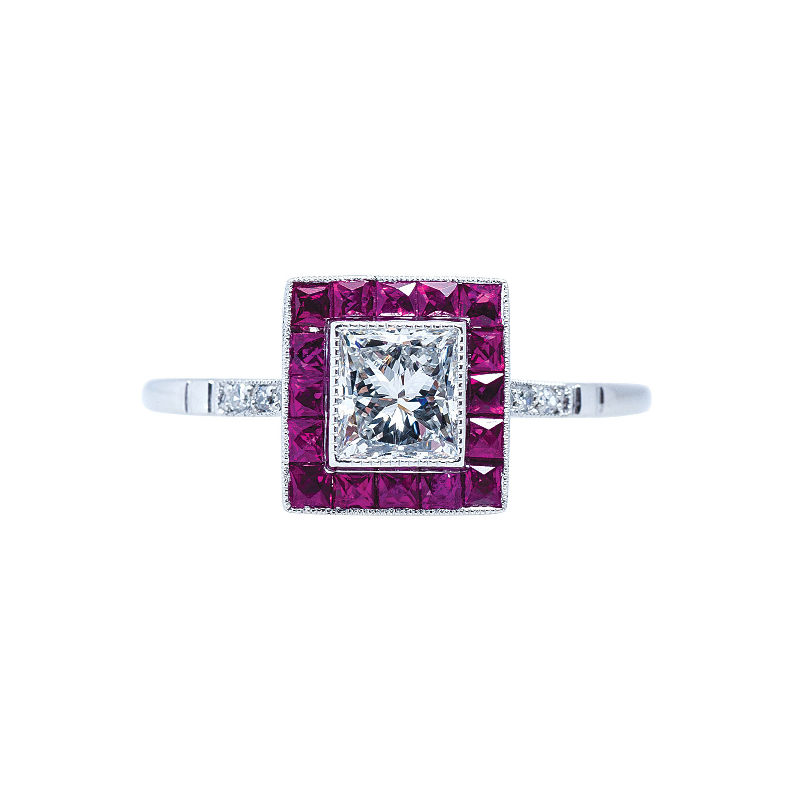 New 1.08 CTW Ruby & Diamond Engagement Ring