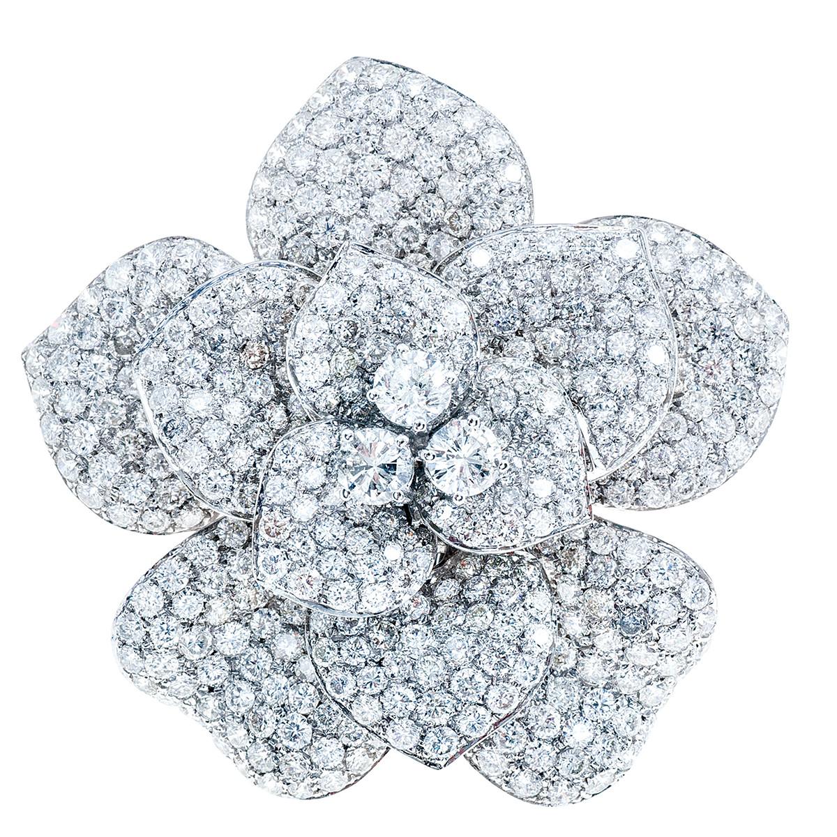 New 10.09 CTW Diamond Flower Ring