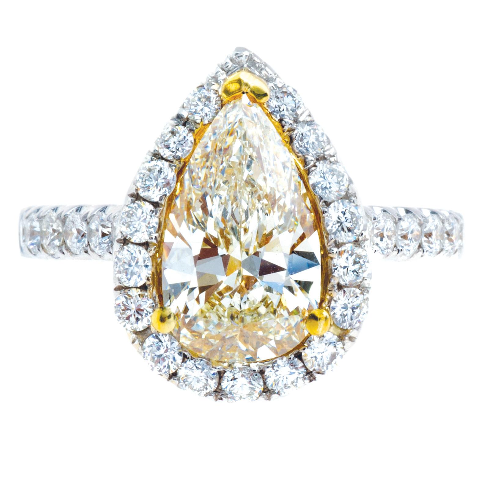 New 3.10 CTW Fancy Yellow & White Diamond Ring