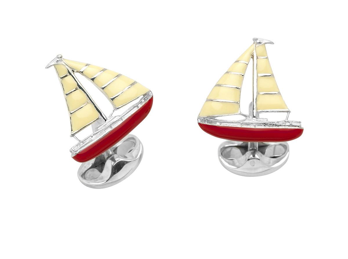 New Deakin & Francis Silver Yacht Cufflinks
