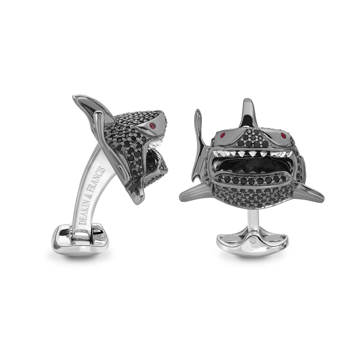 New Deakin & Francis Black Spinel Shark Cufflinks