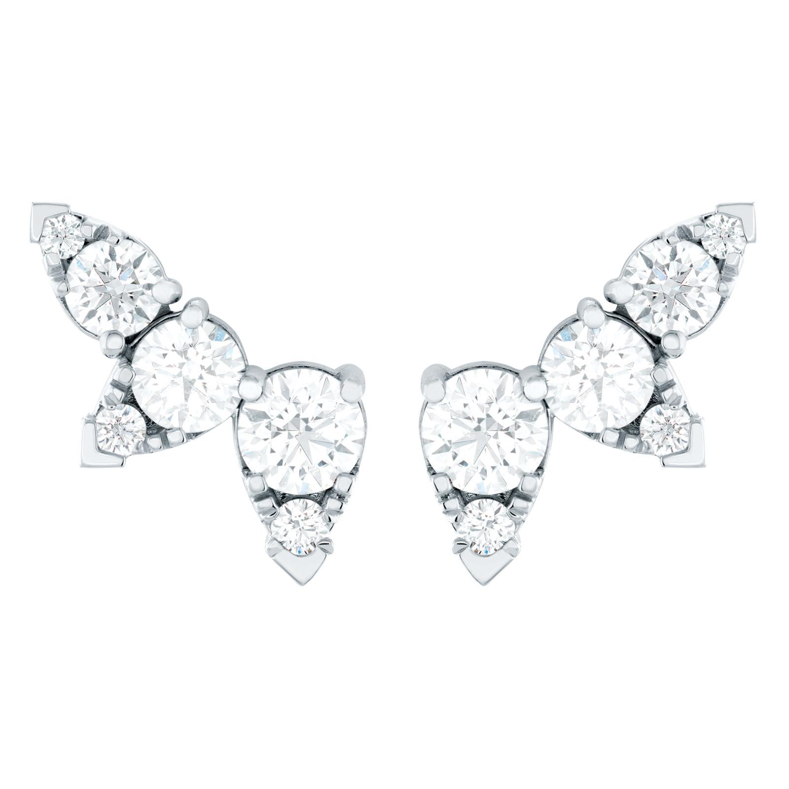 New Hearts On Fire® 1.48 CTW Diamond Aerial Ear Vine Earrings