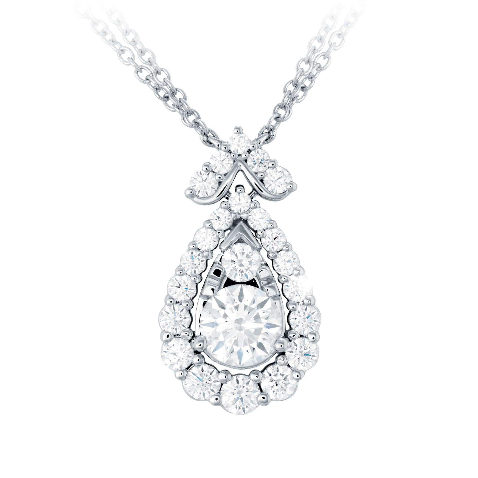 New Hearts On Fire® 1.59 CTW Diamond Aerial Victorian Necklace