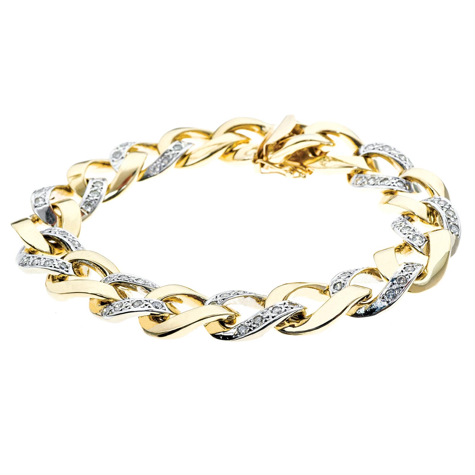 Vintage 2.56 CTW Diamond Link Bracelet