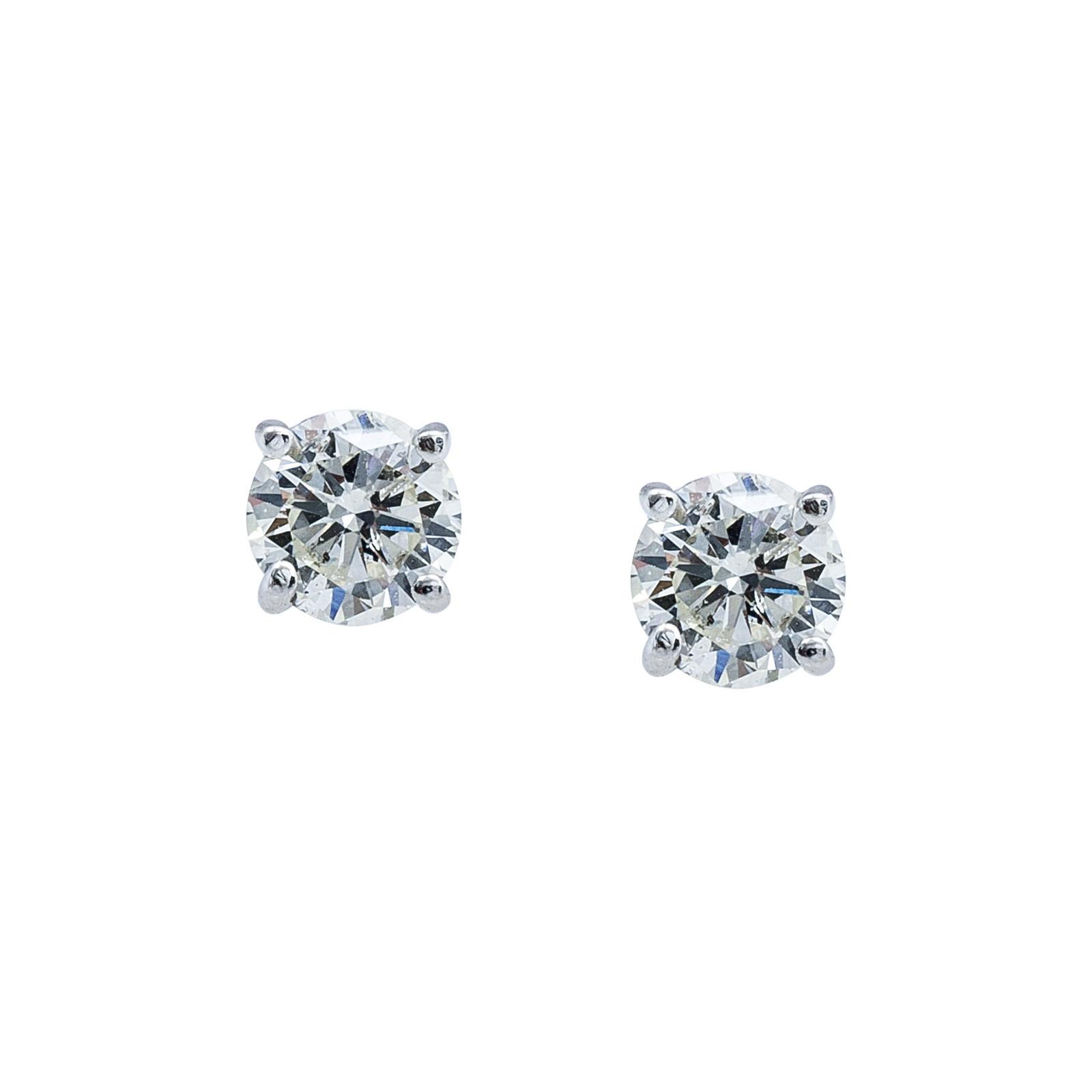 Vintage 1.06 CTW Diamond Stud Earrings