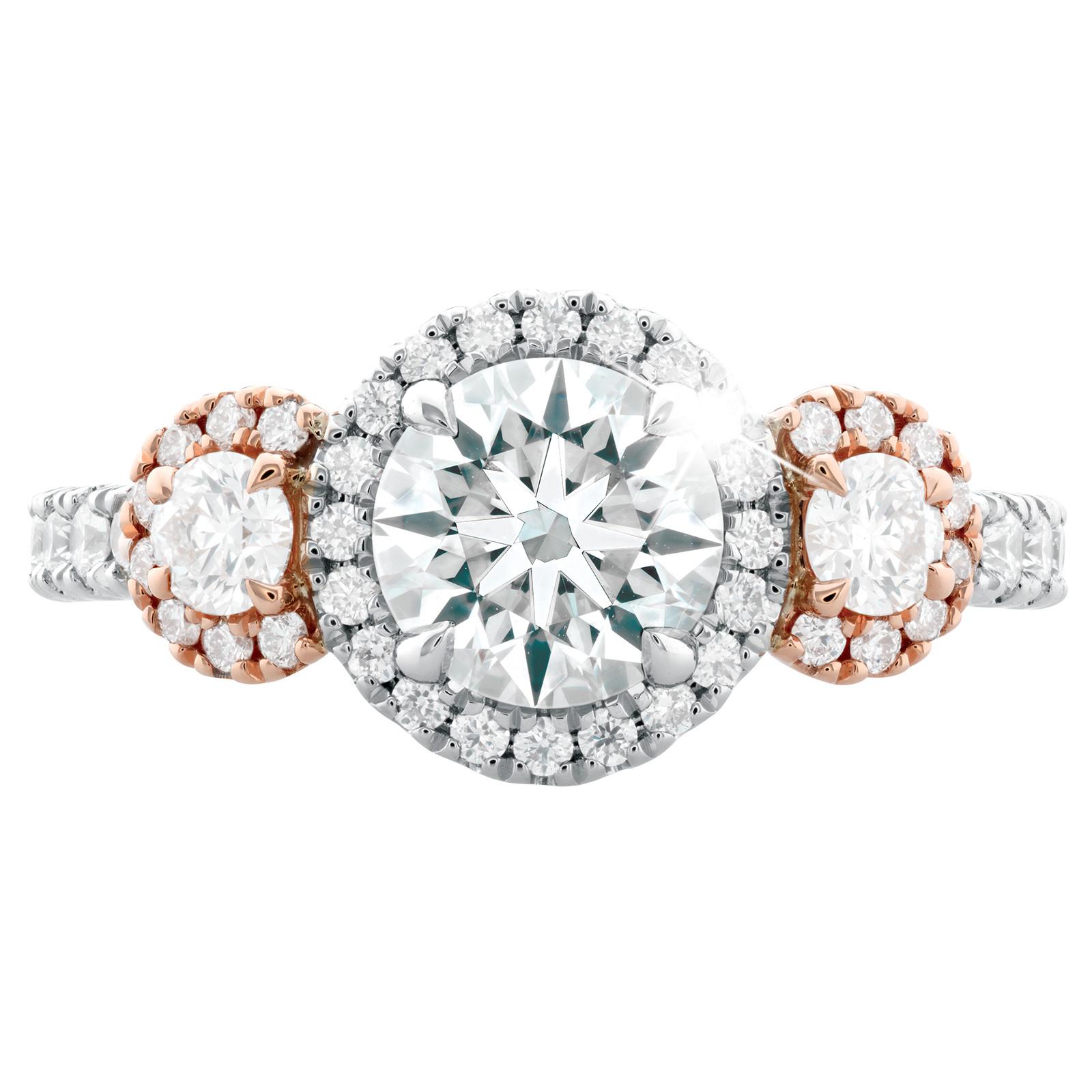 New Hearts On Fire® 1.12 CTW Diamond Three Stone Engagement Ring