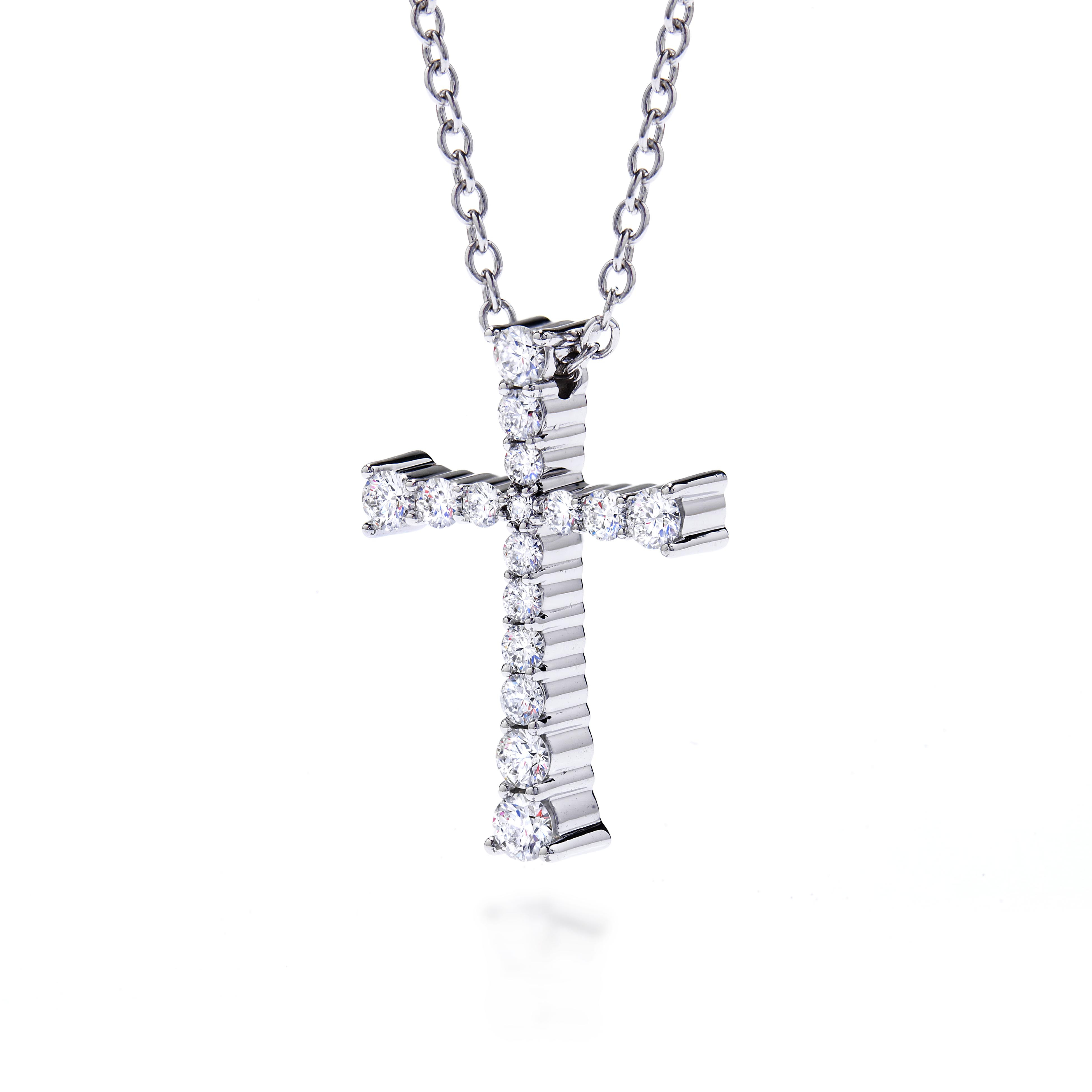 New Hearts On Fire® 0.26 CTW Diamond Divine Journey Cross Pendant