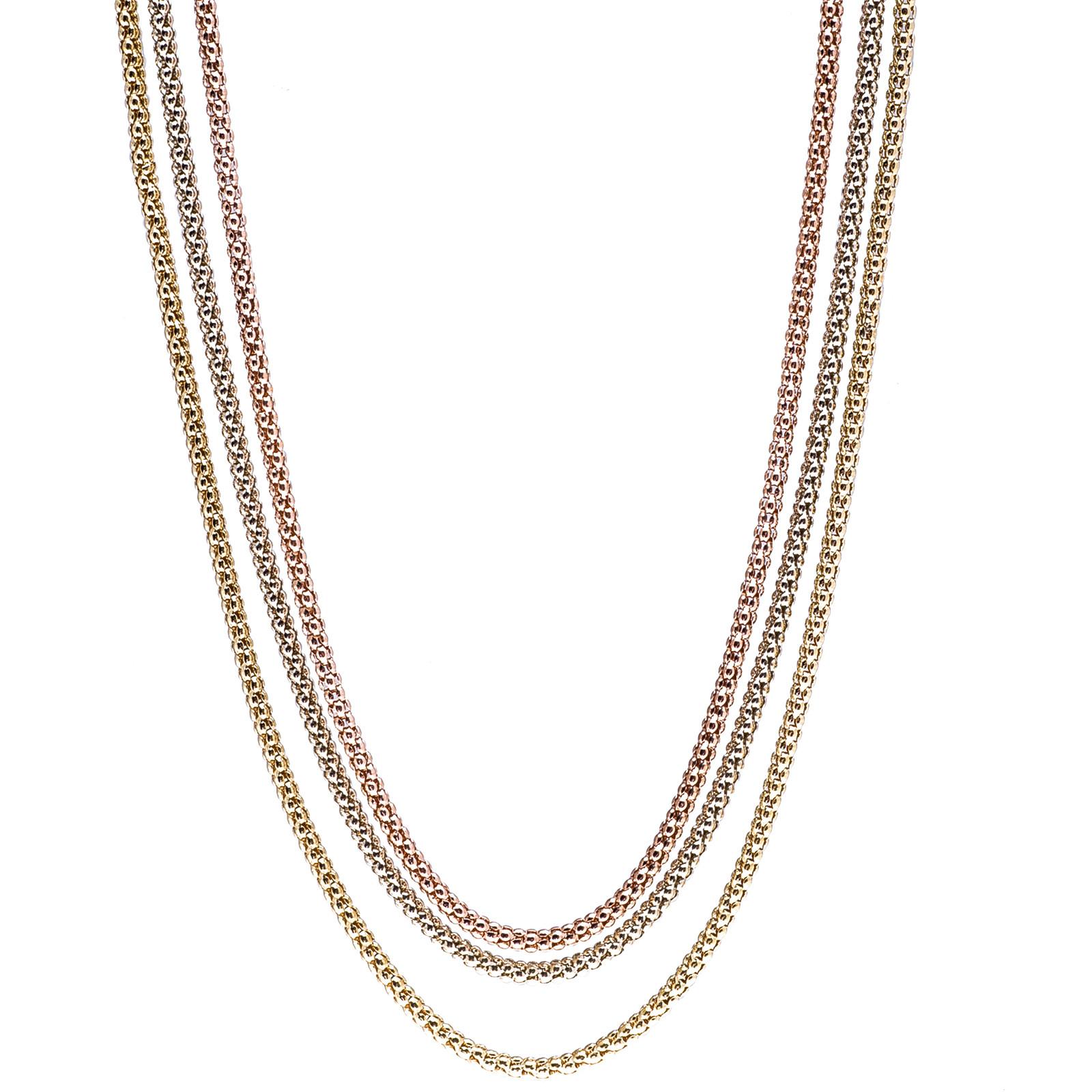"Vintage Tricolor 18"" Necklace"