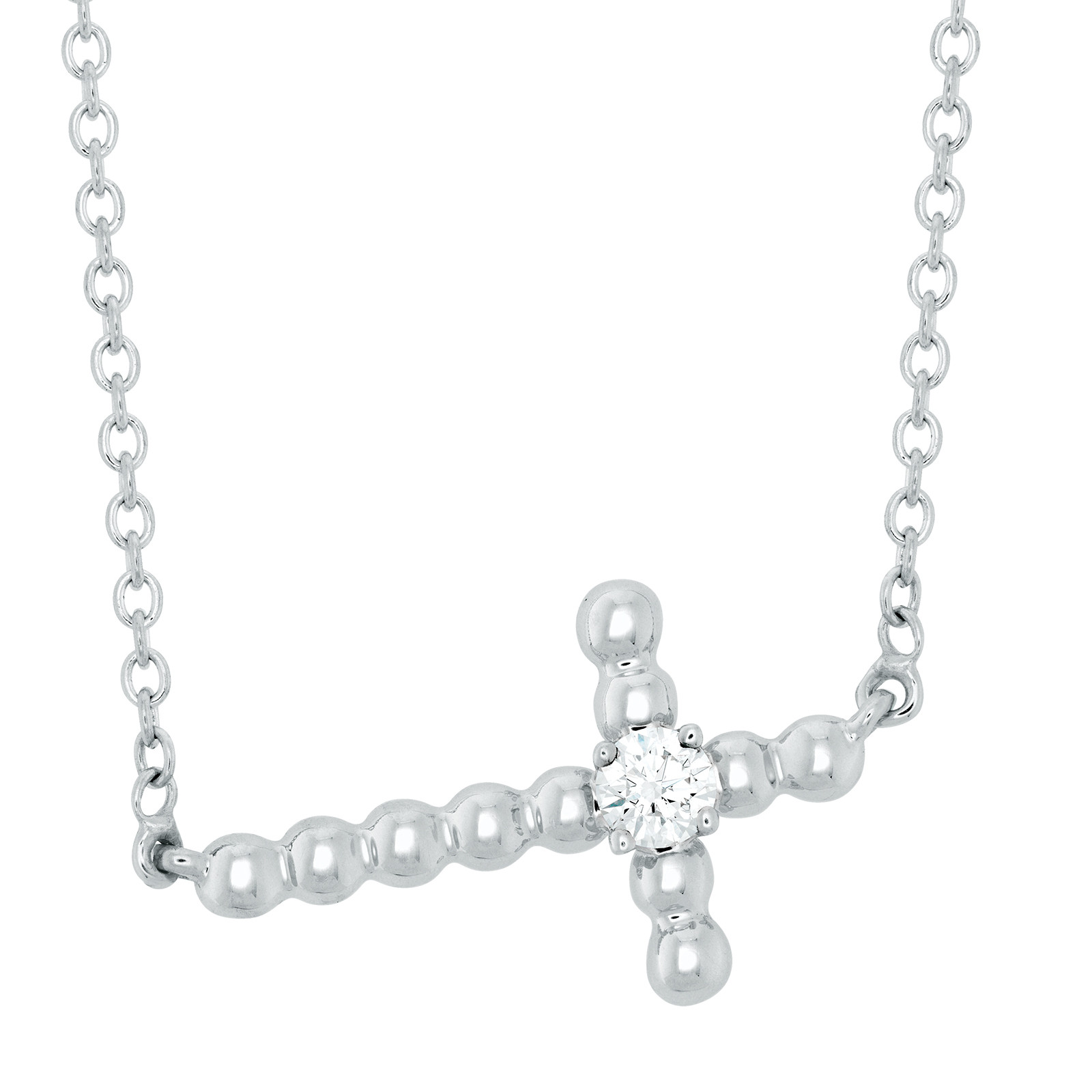New Hearts On Fire® Charmed Cross Necklace