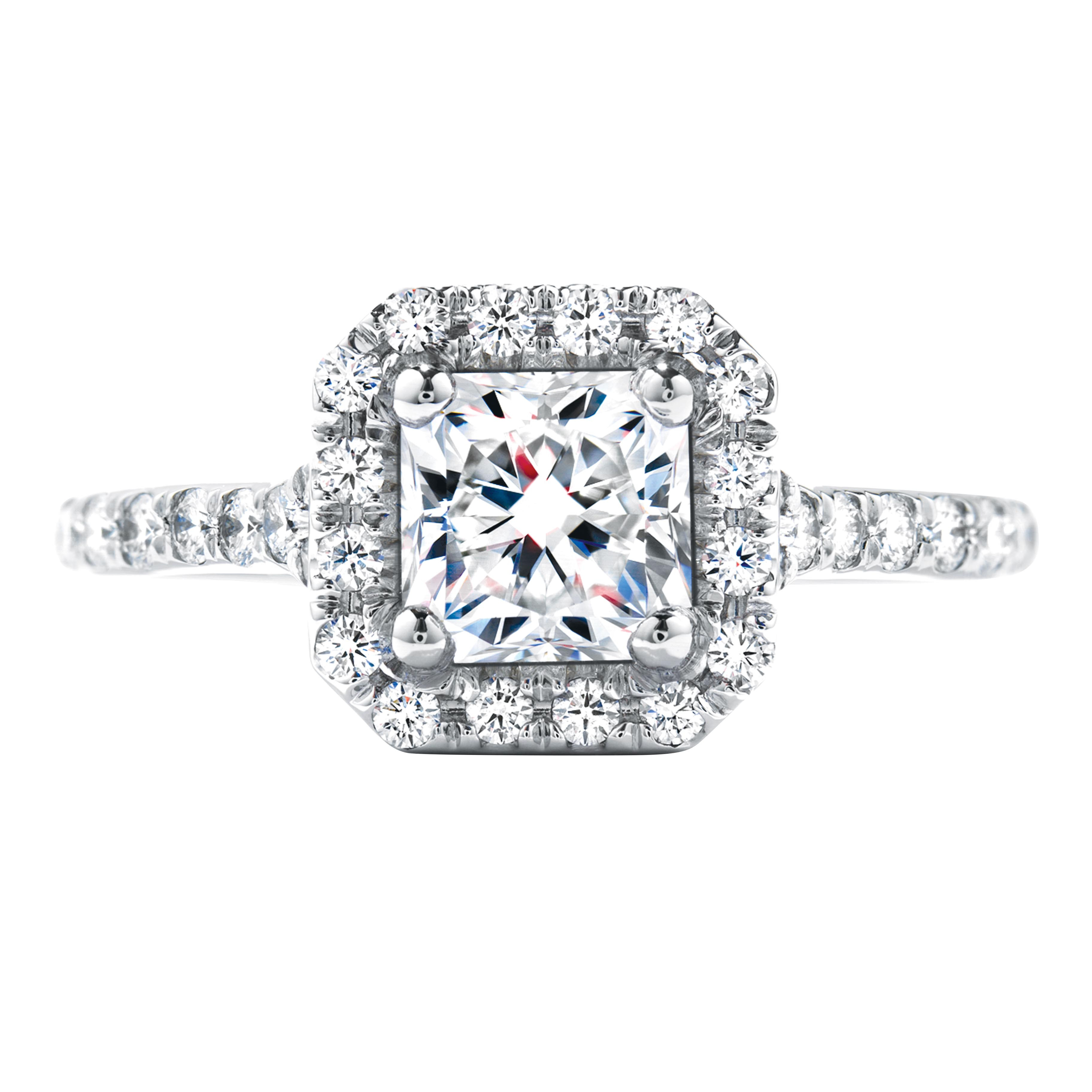 Vintage Hearts On Fire® 1.50 CTW Diamond Transcend Single Halo Dream Solitaire Ring