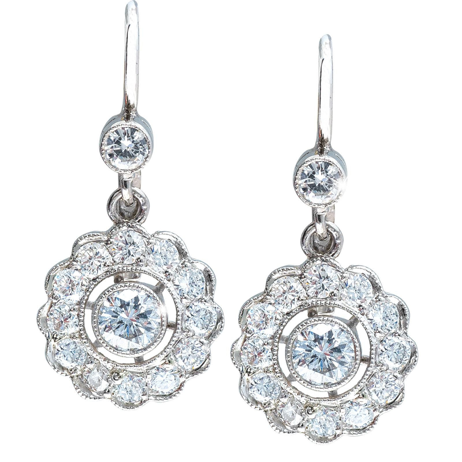 New Art Deco-Inspired 1.00 CTW Diamond Earrings