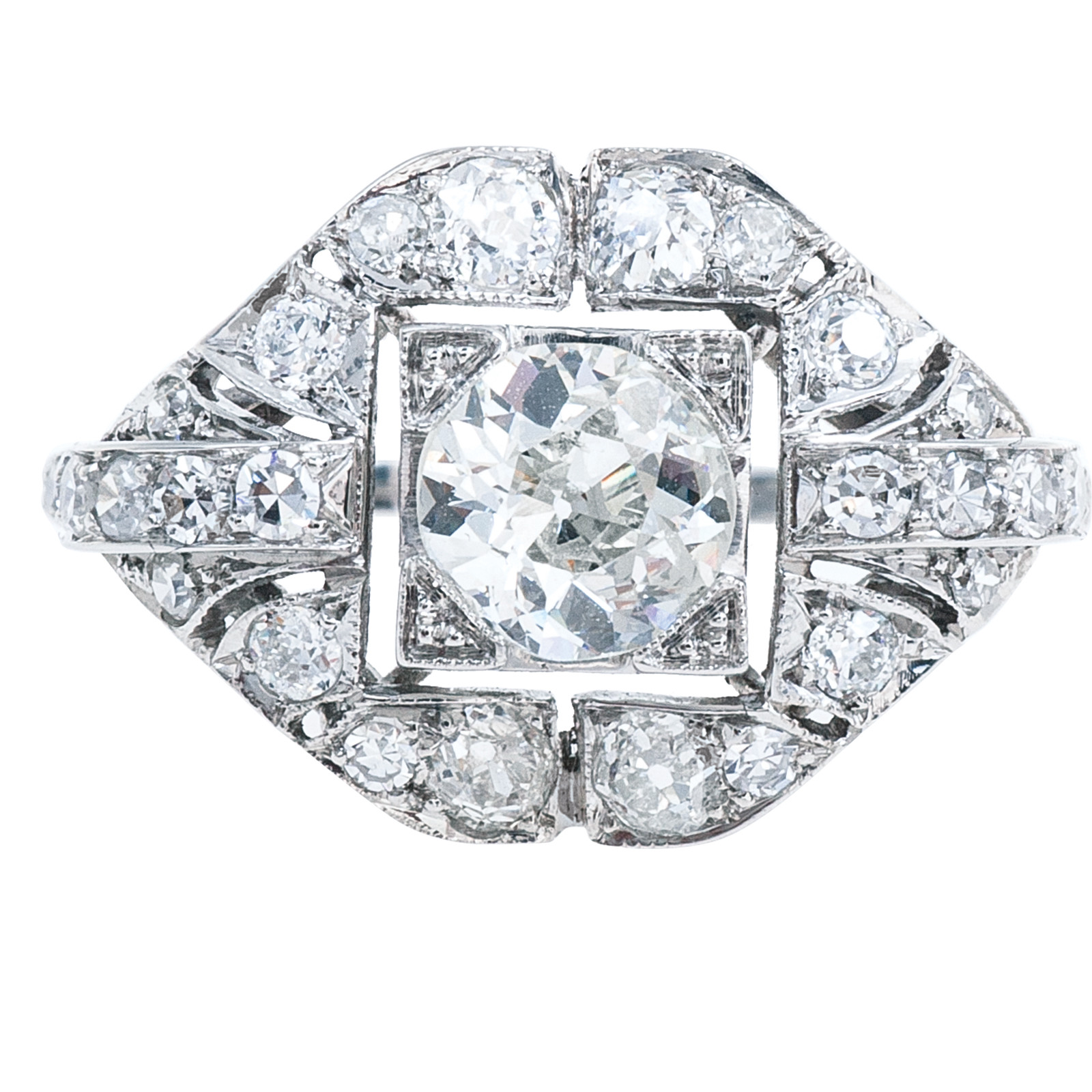 New Art Deco-Inspired 1.30 CTW Diamond Engagement Ring