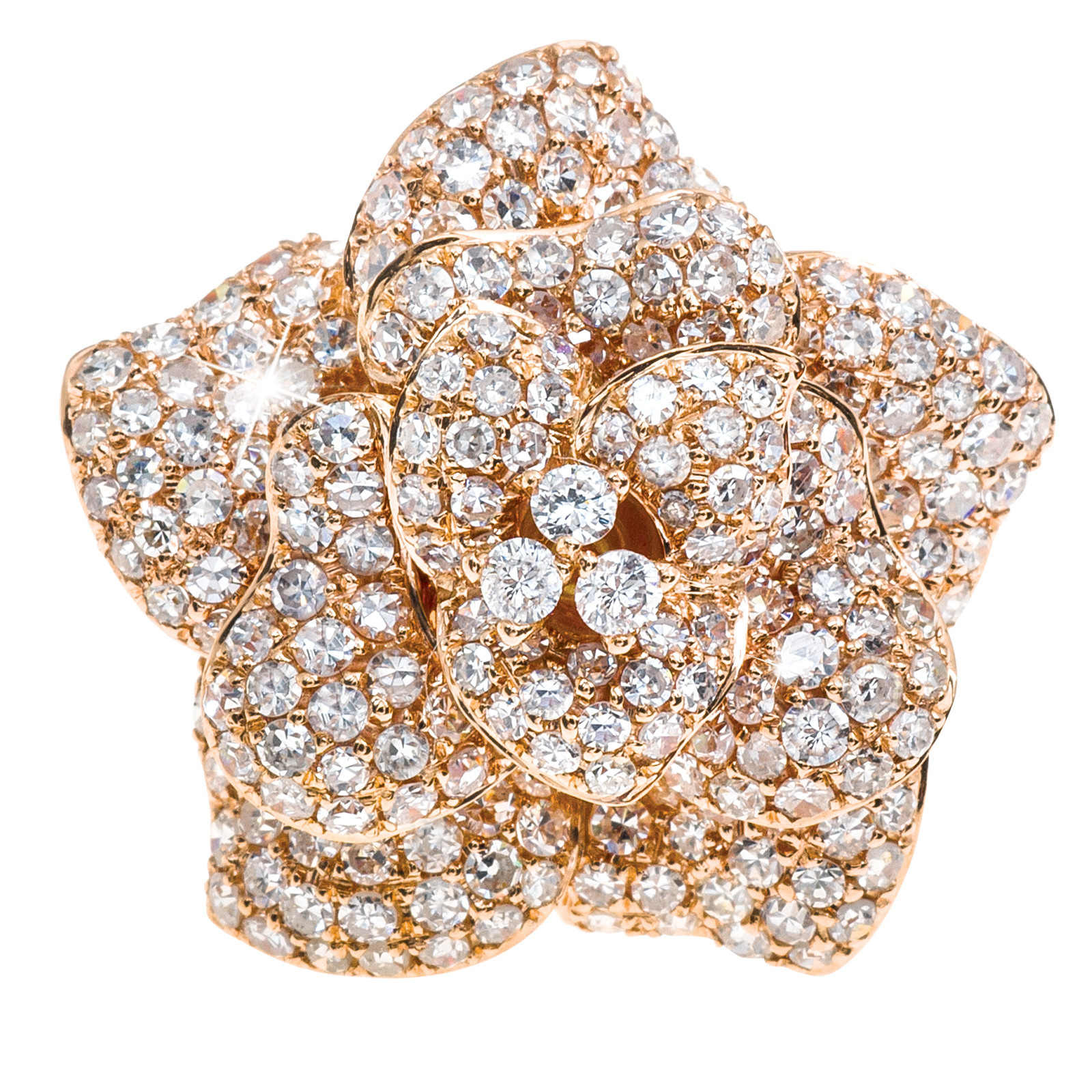 New 2.45 CTW Diamond Flower Ring