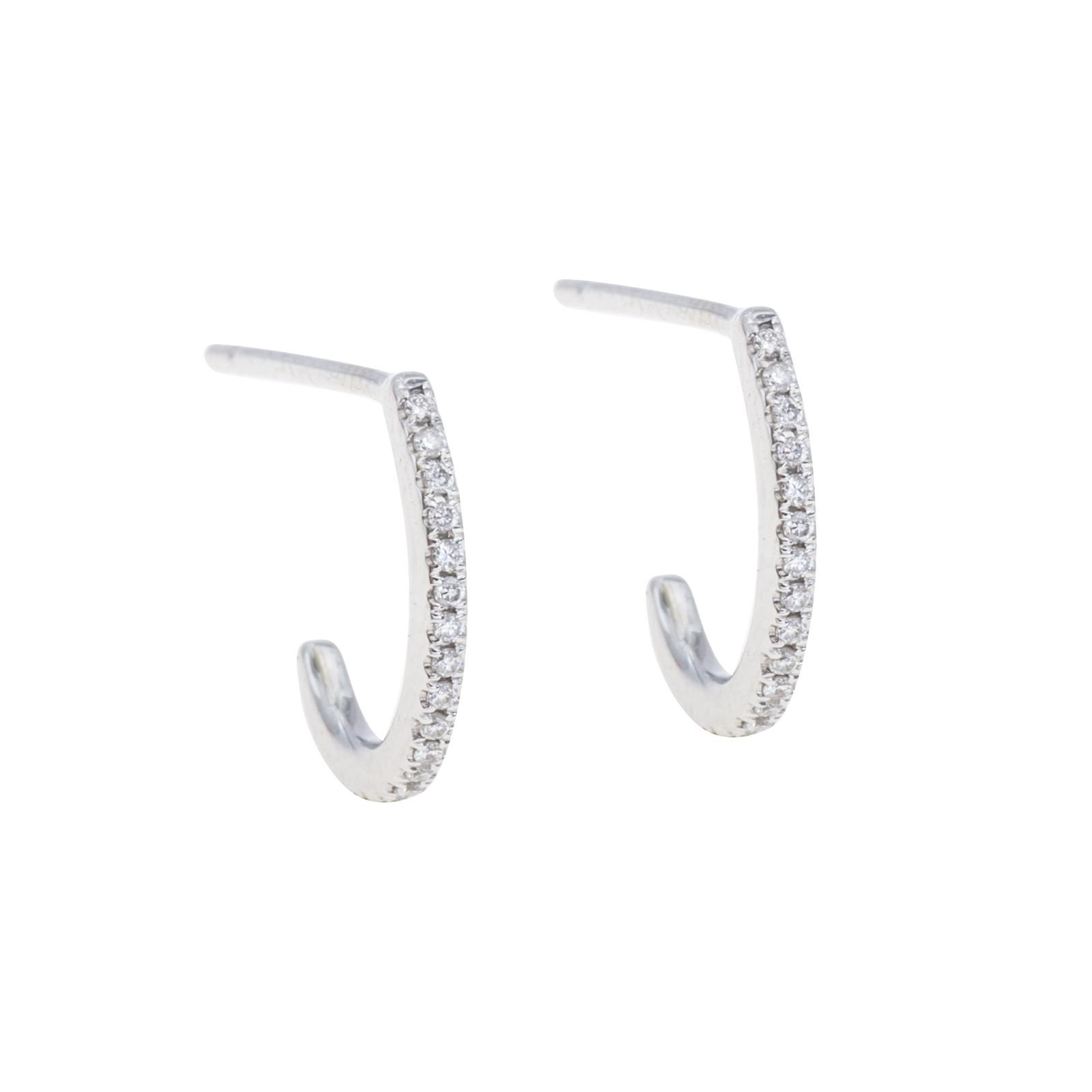 New Venetti 0.08 CTW Diamond Huggie Earrings