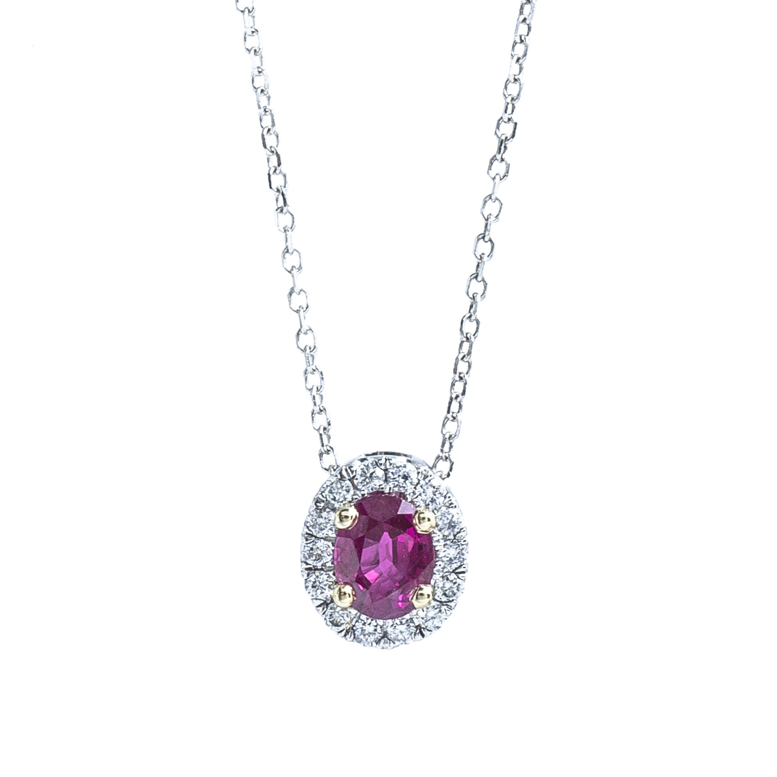 New Venetti 0.56 CTW Ruby & Diamond Necklace