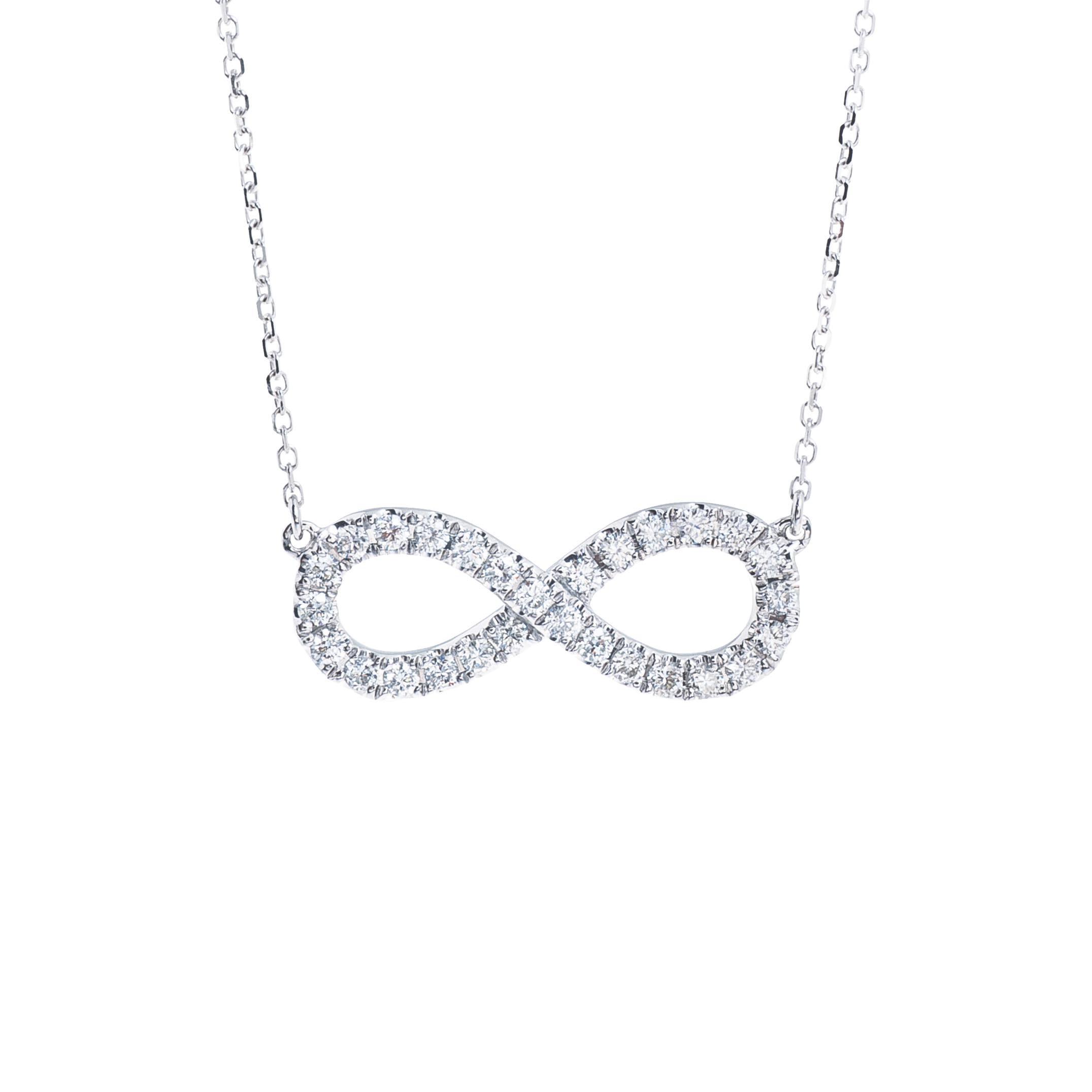 New Venetti 0.36 CTW Diamond Infinity Necklace