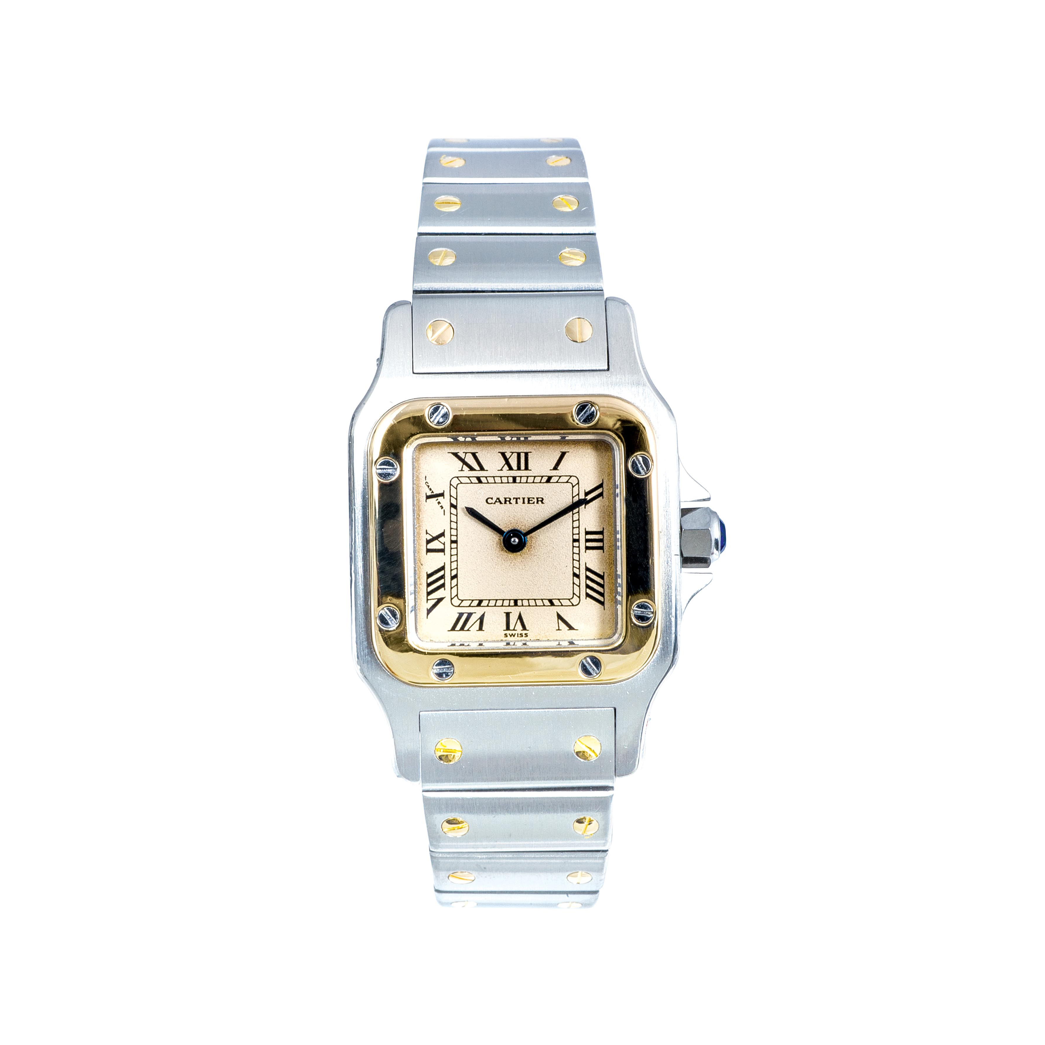 Pre-Owned Women's Two-Tone Cartier Santos