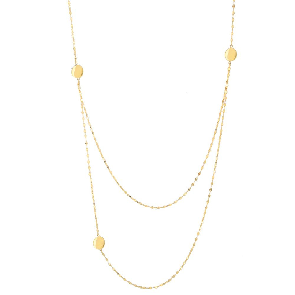 New Lana Ombre Tri-Disc Necklace