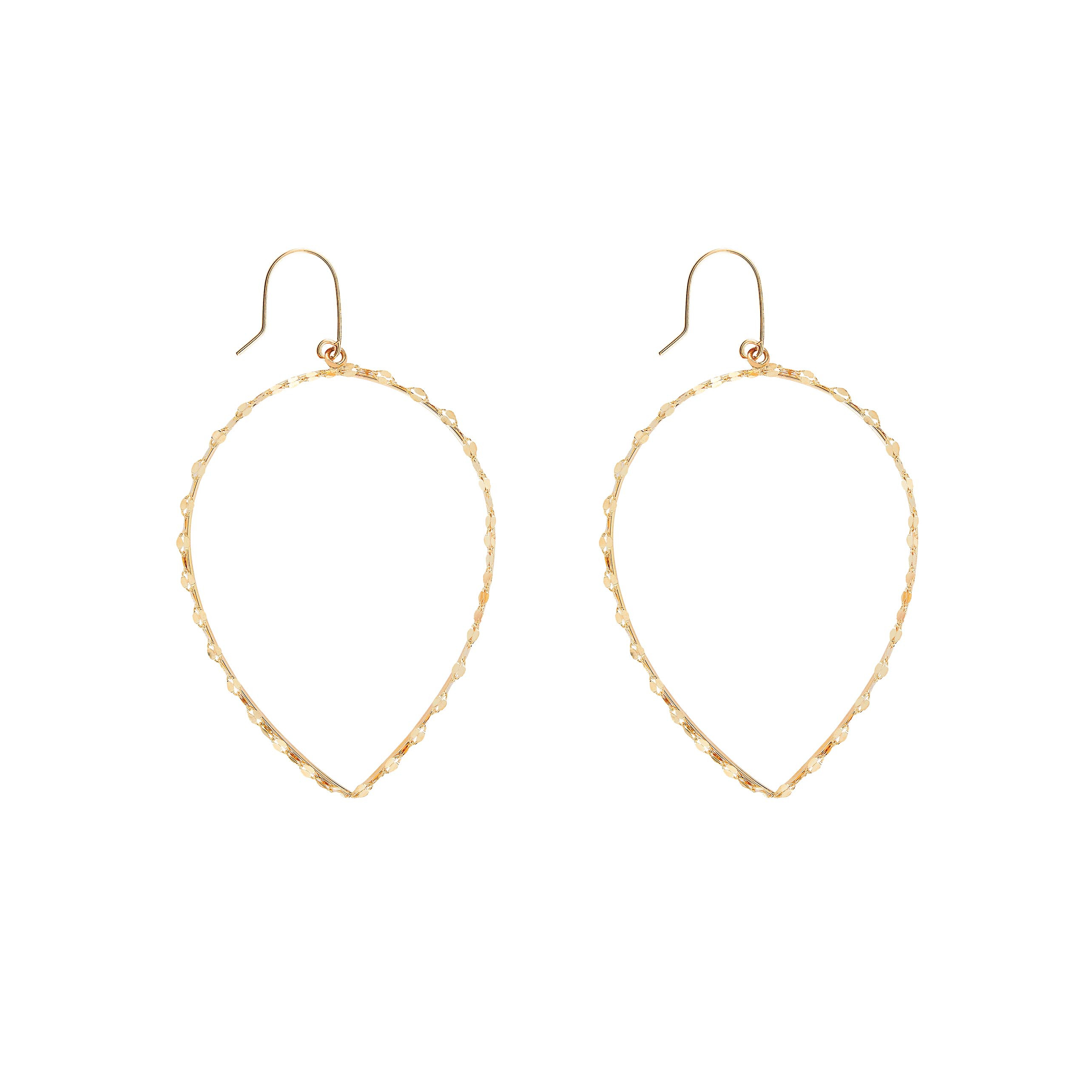 New Lana Jewelry Small Glam Pear Shaped Earrings