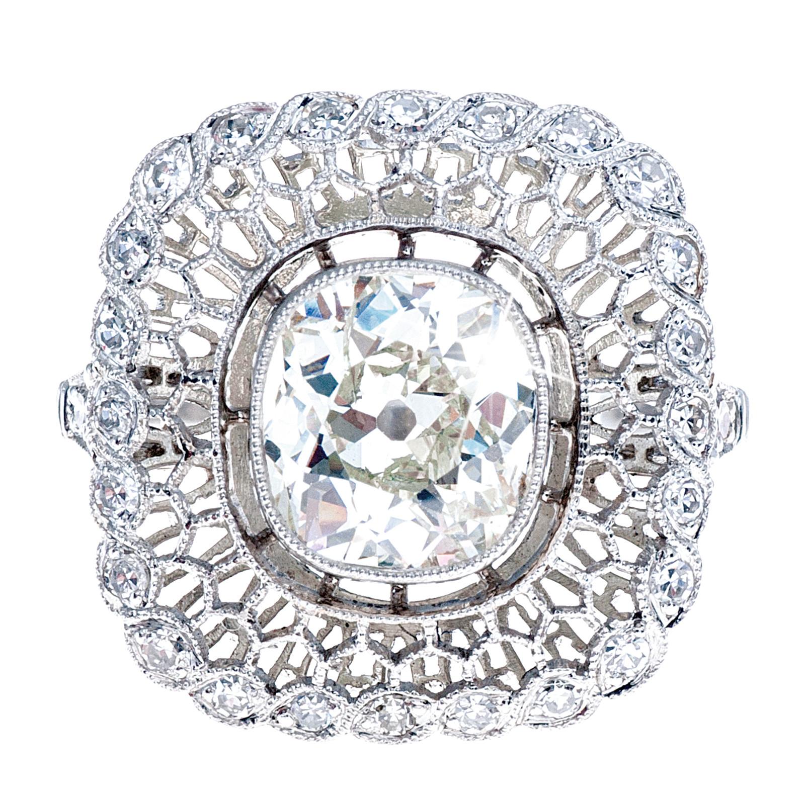 New 1.80 CT Diamond Halo Engagement Ring