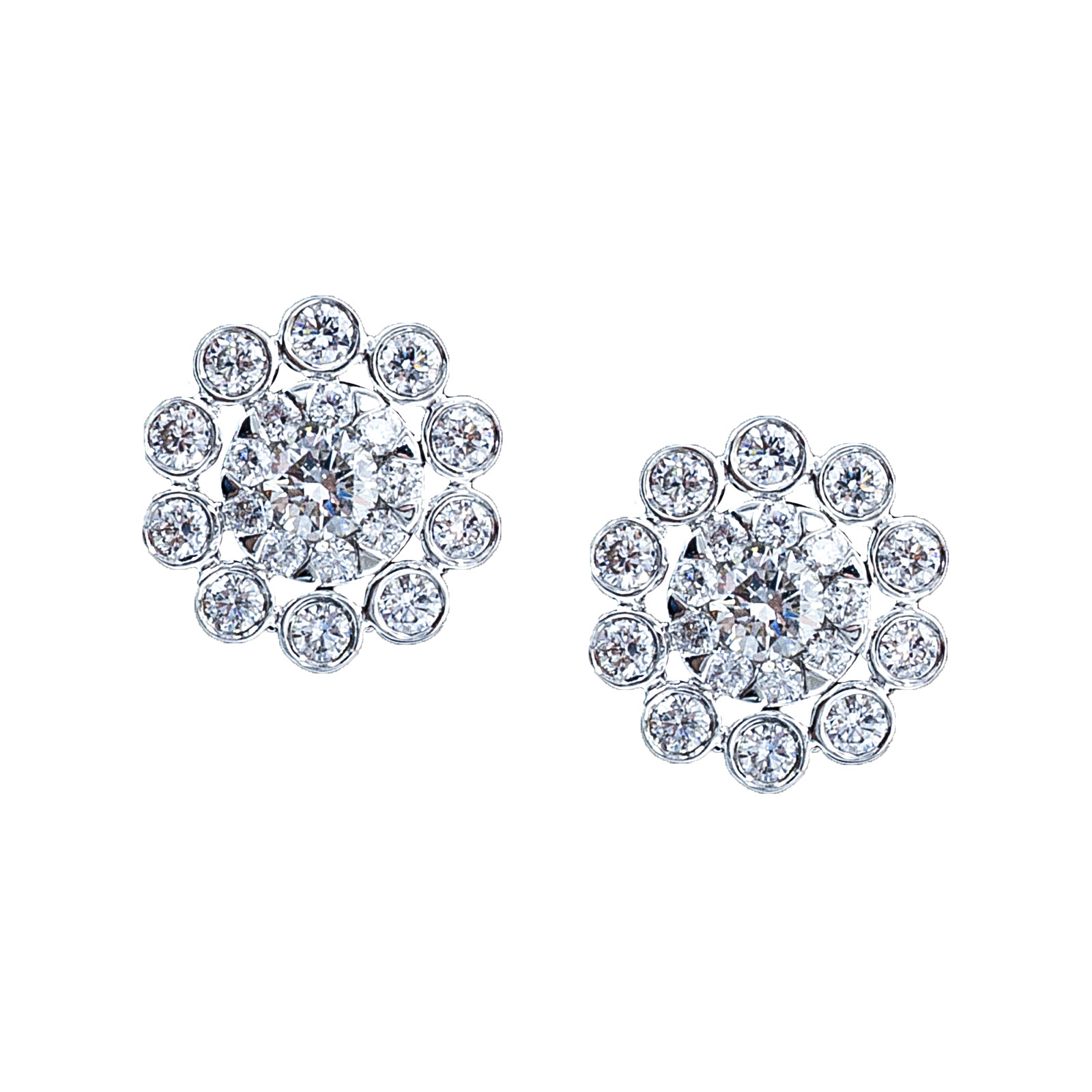 New Mémoire® 0.40 CTW Diamond Bouquets Flower Stud Earrings