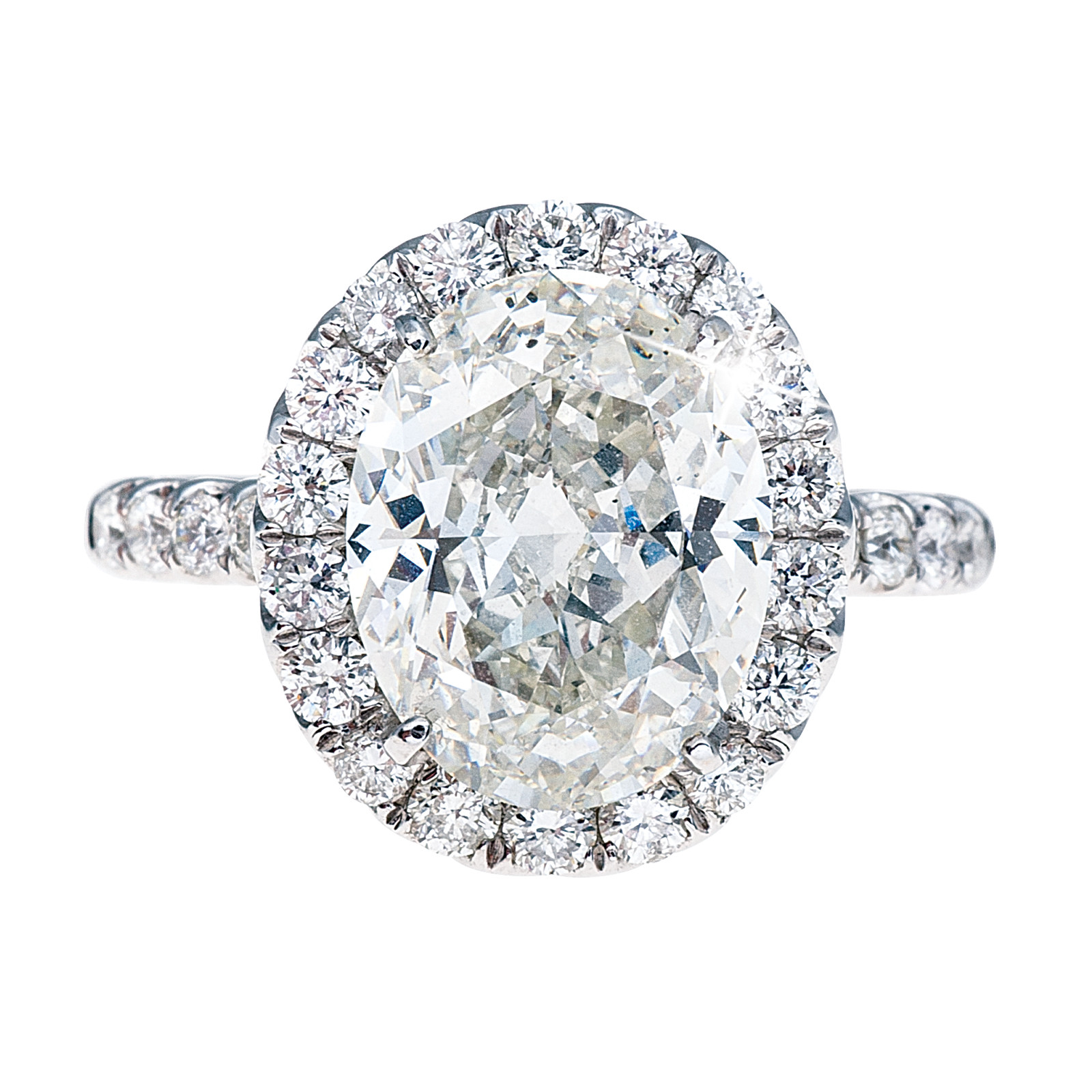 New 4.01 Oval Diamond Engagement Ring