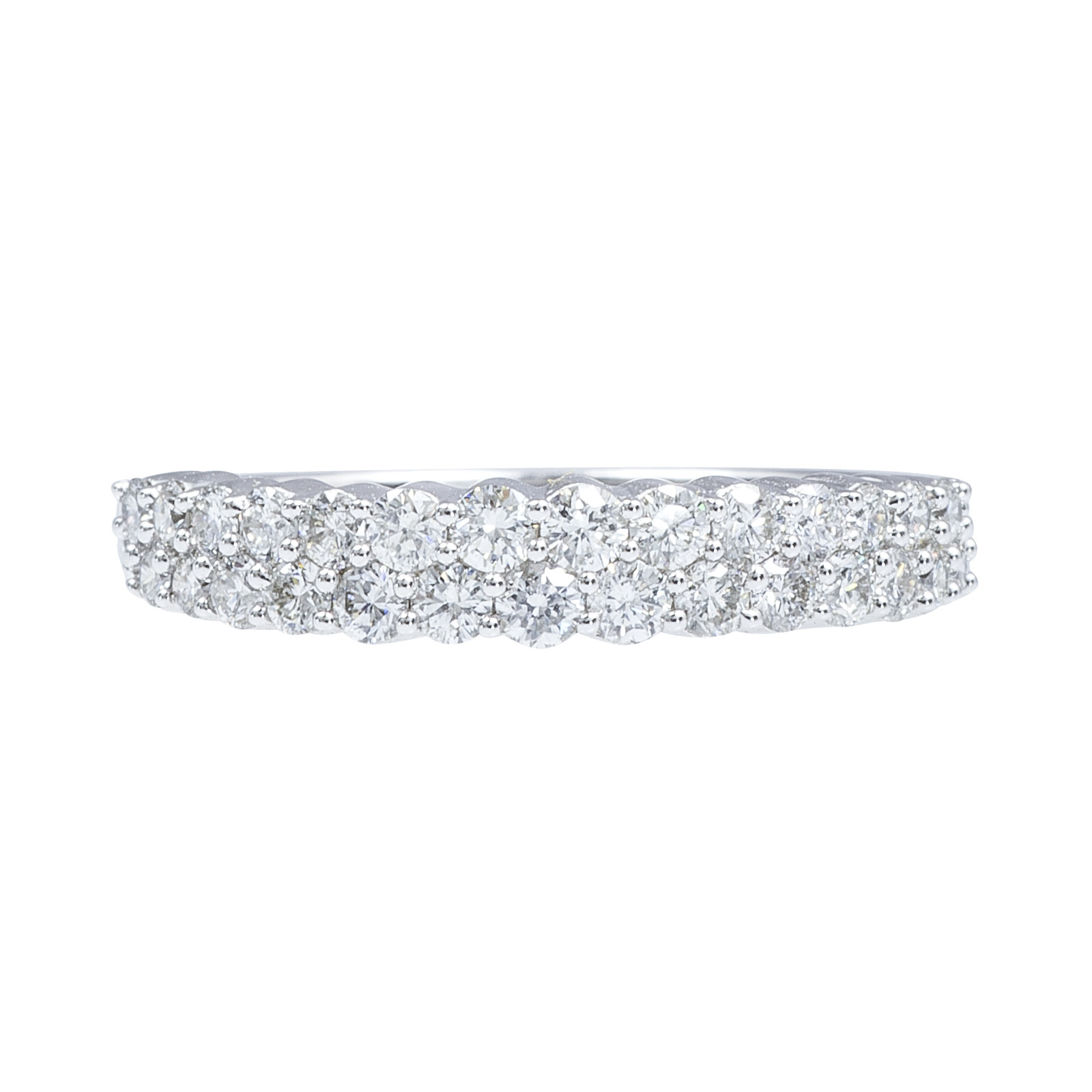 New 0.73 CTW Pavé Diamond Wedding Band