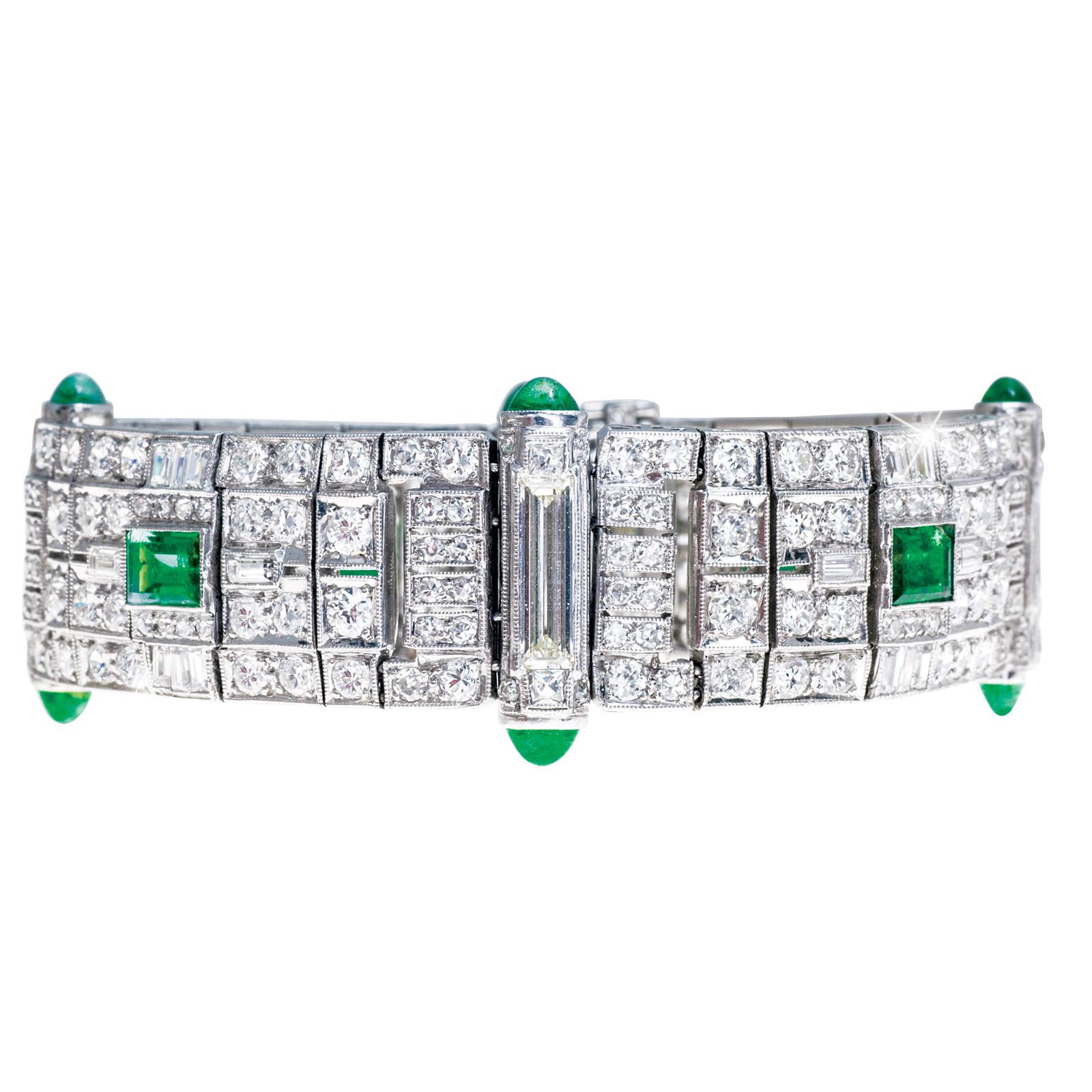 Vintage 13.74 CTW Diamond & Emerald Bracelet