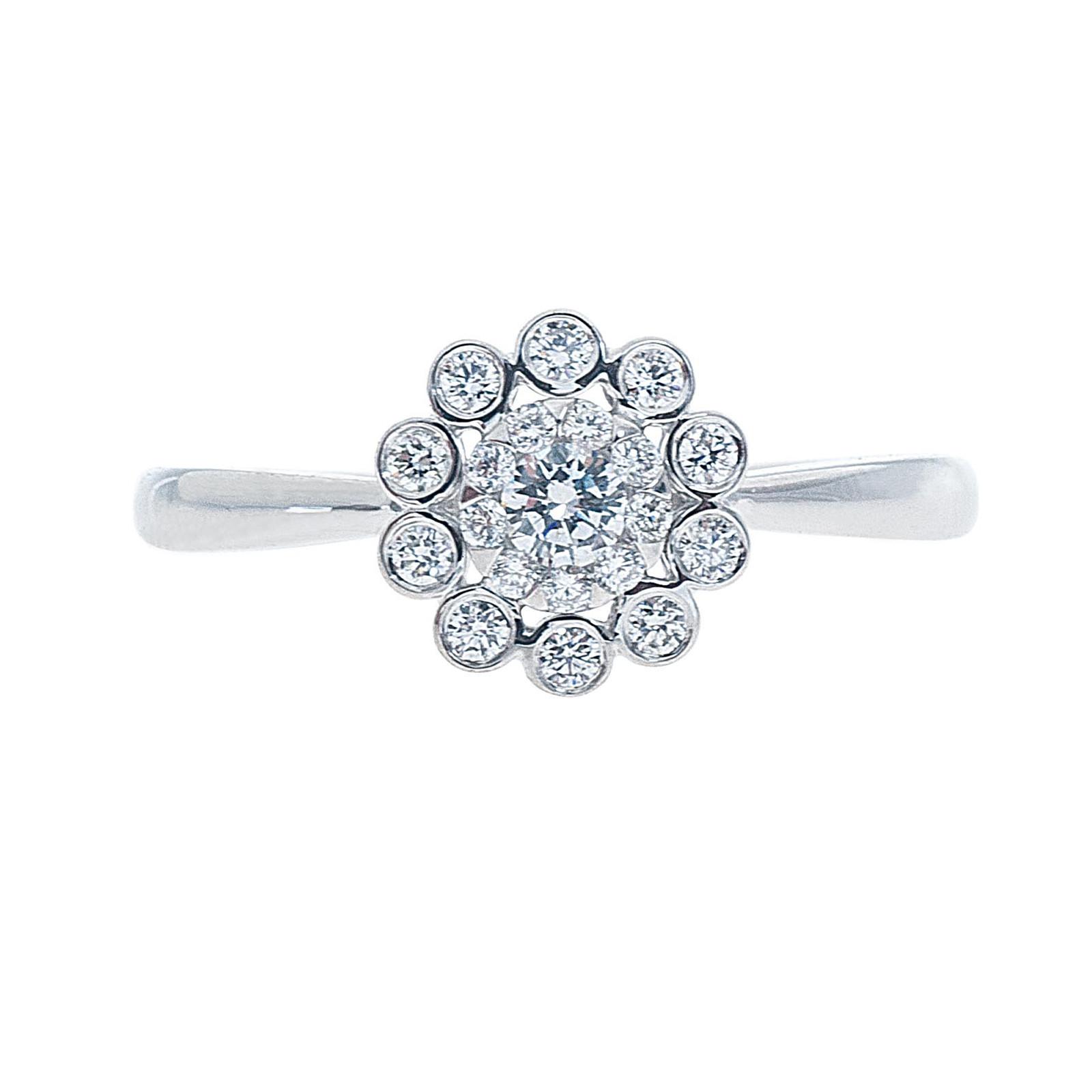 New Mémoire® 0.33 CTW Diamond Bouquets Ring