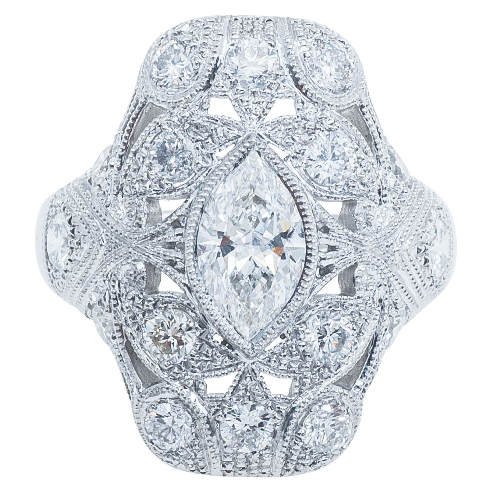 New Antique-Inspired 2.05 CTW Diamond Engagement Ring