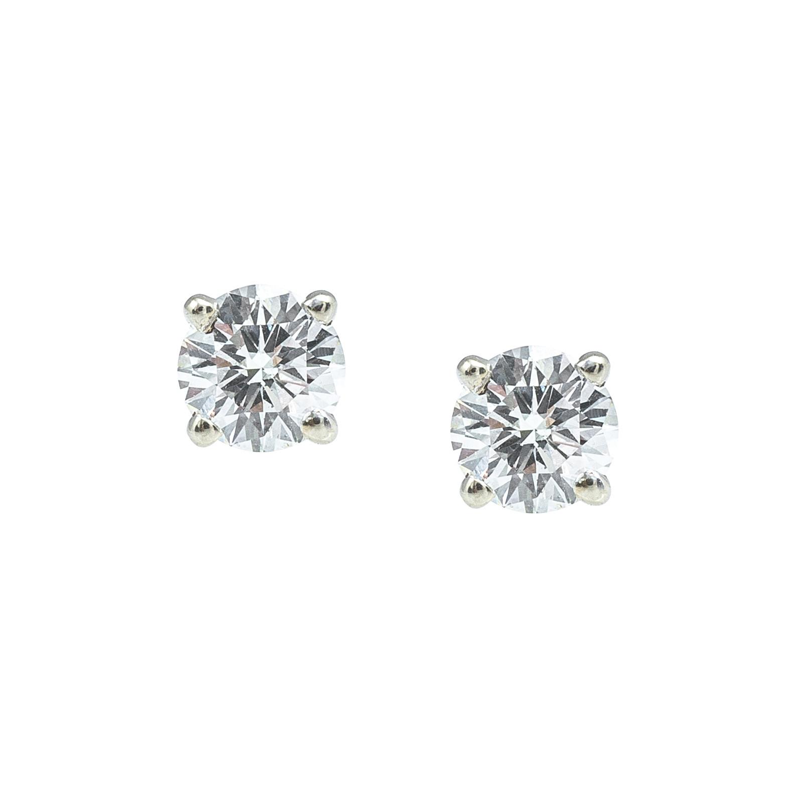 Vintage 1.02 CTW Diamond Stud Earrings