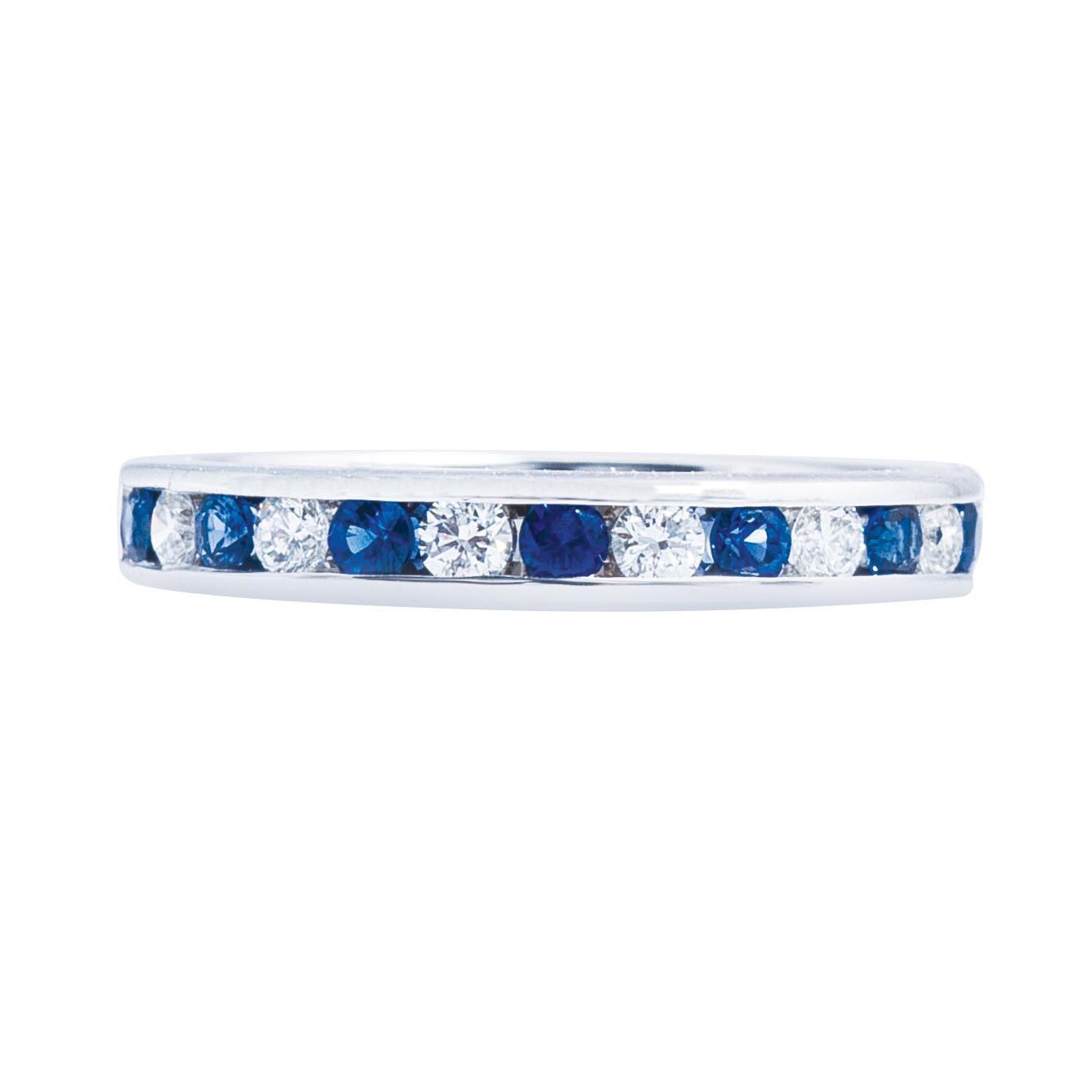 Vintage 0.52 Diamond & Sapphire Band