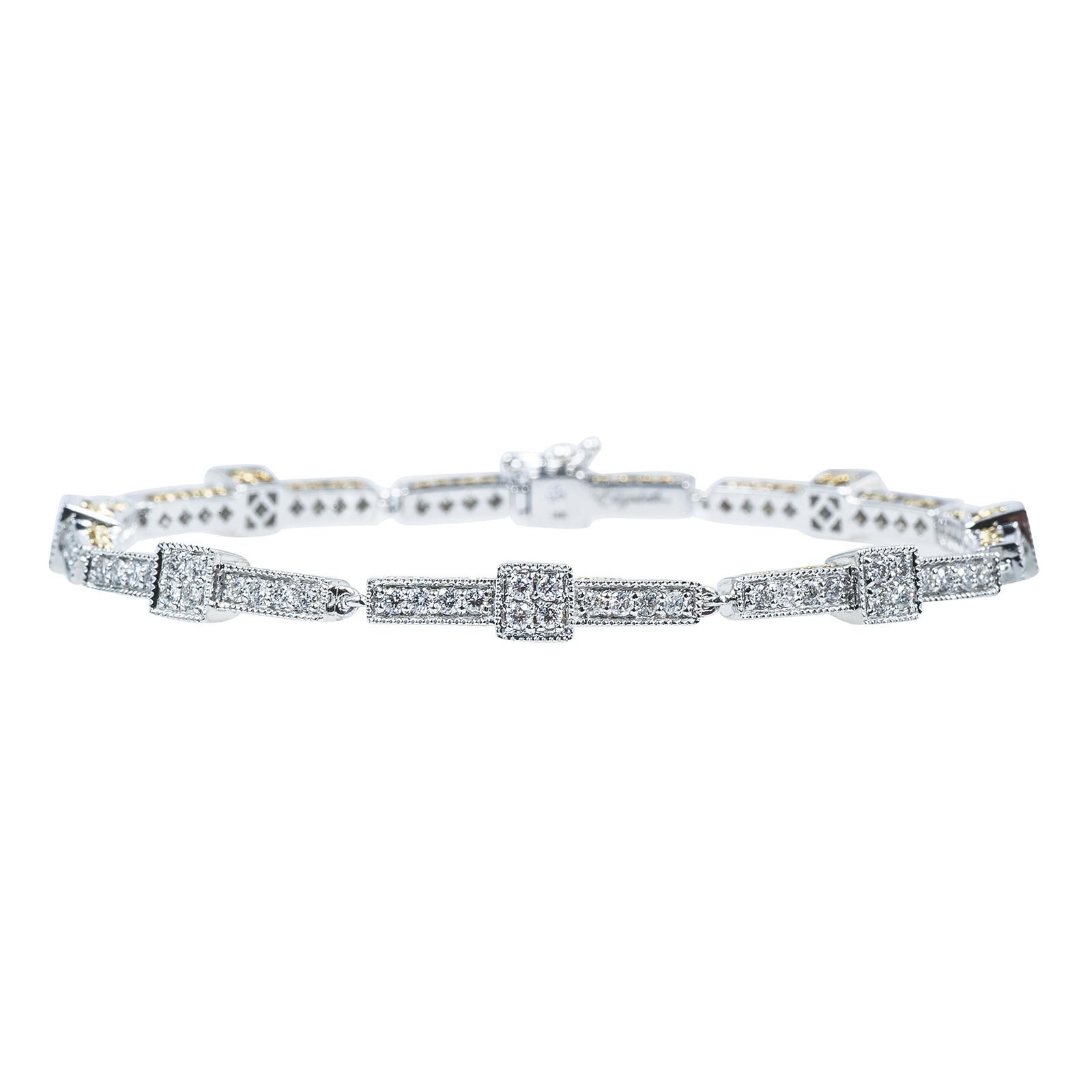New Elizabeth Taylor Collection 2.05 CTW Diamond Bracelet