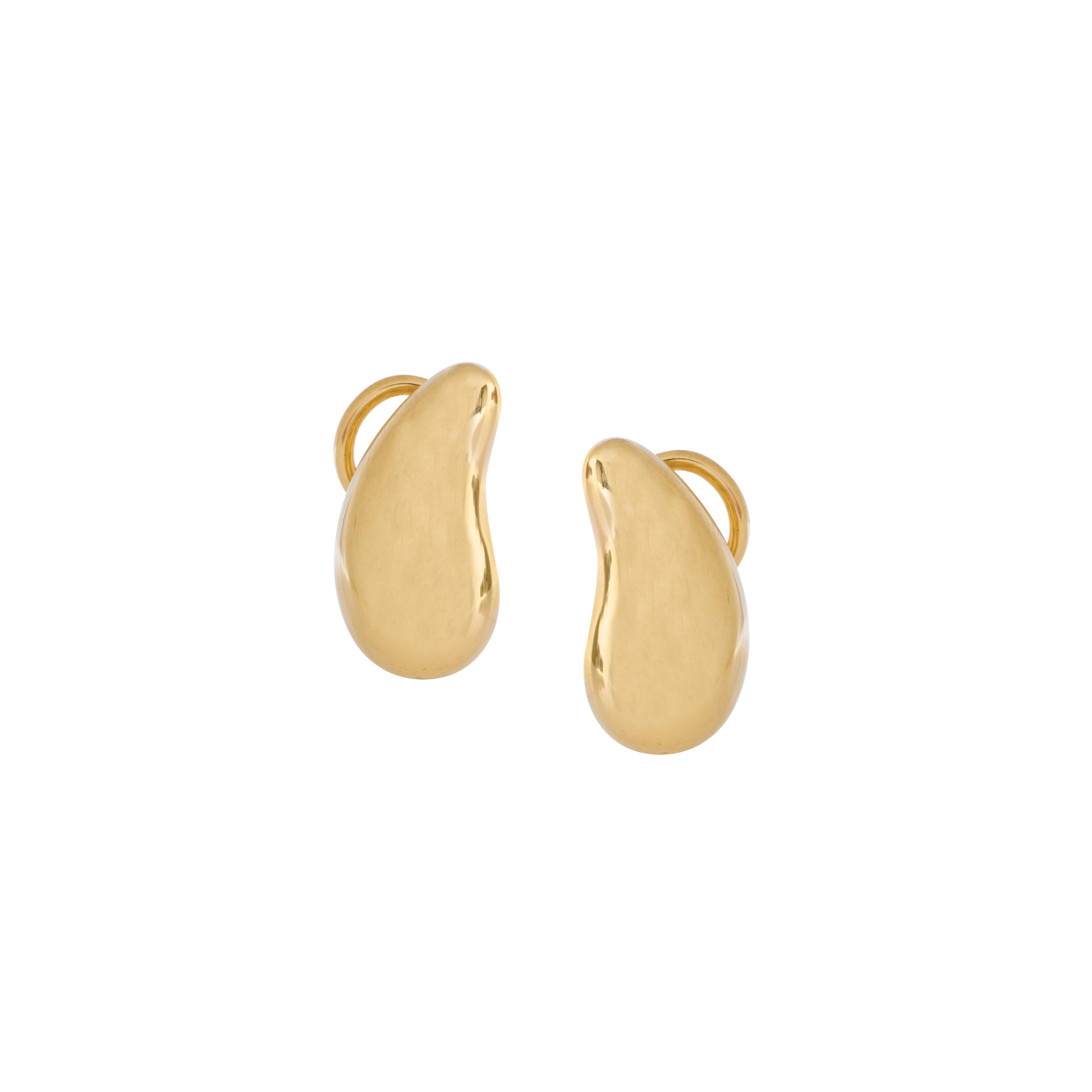 Vintage Tiffany & Co. Elsa Peretti Teardrop Stud Earrings