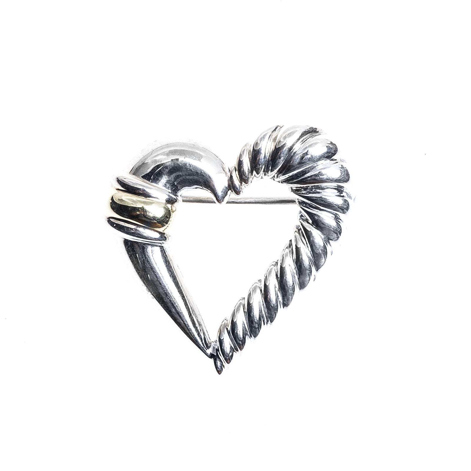 Vintage David Yurman Cable Heart Pin