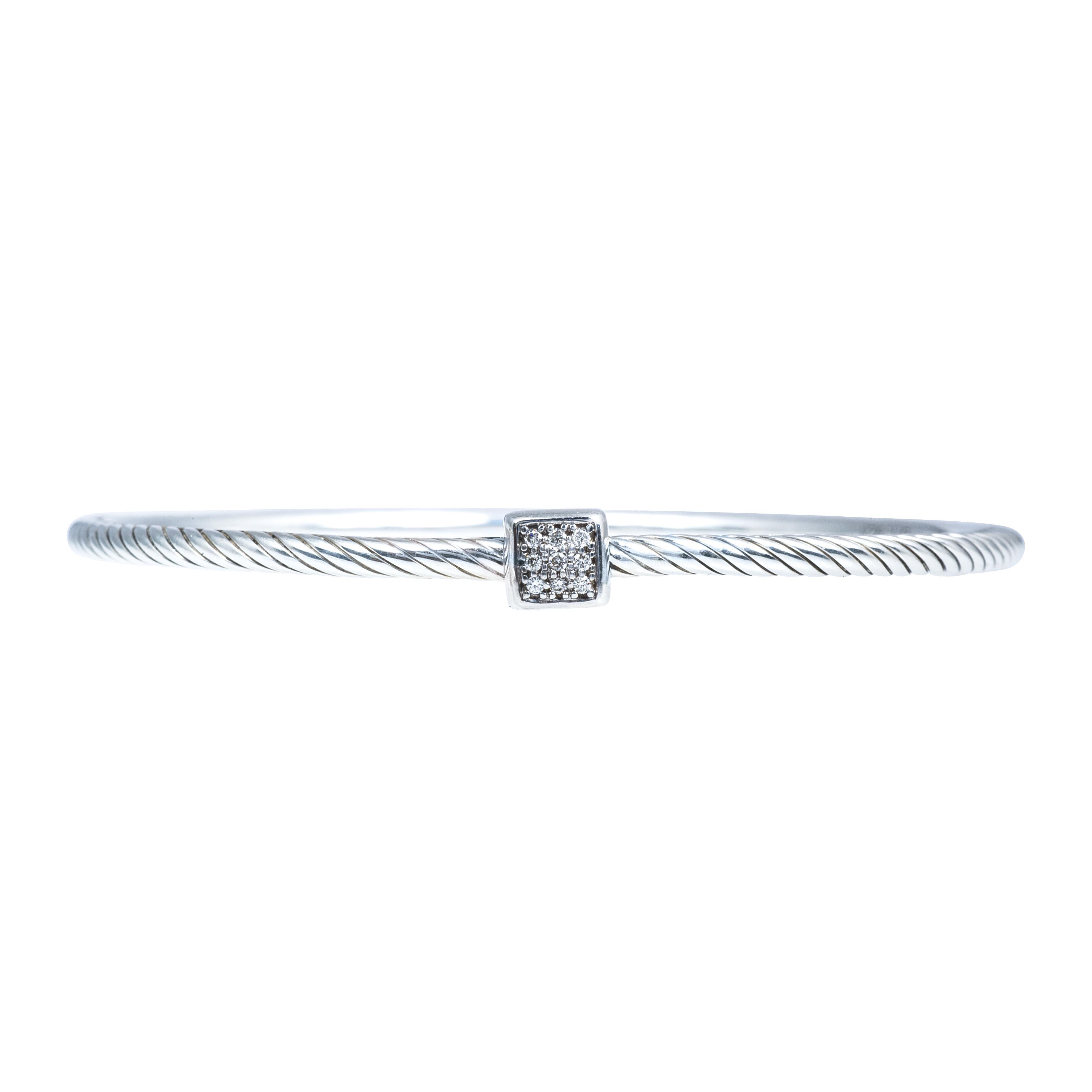 Vintage David Yurman 0.06 CTW Diamond Confetti Bangle