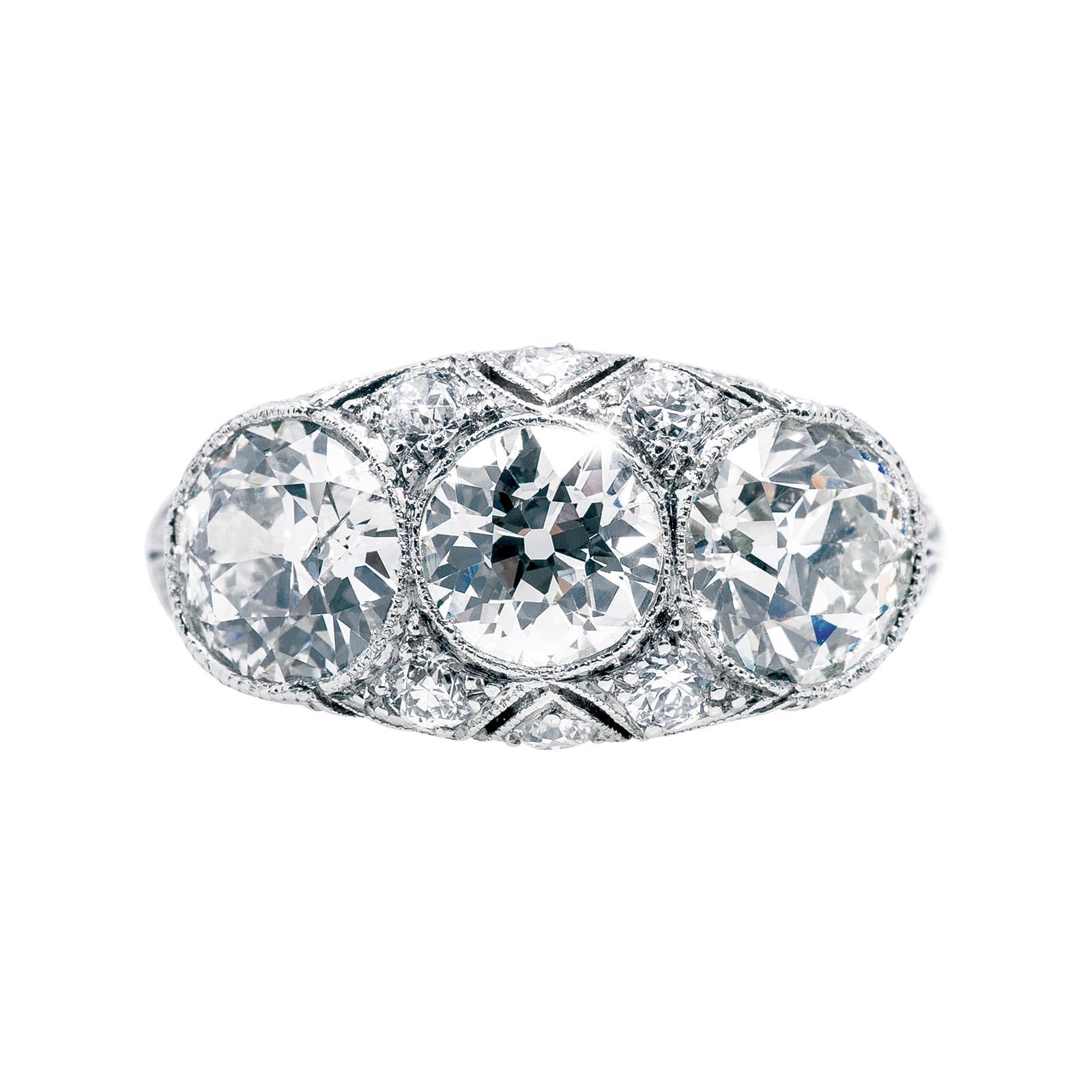 Antique Edwardian 2.92 CTW Diamond Engagement Ring