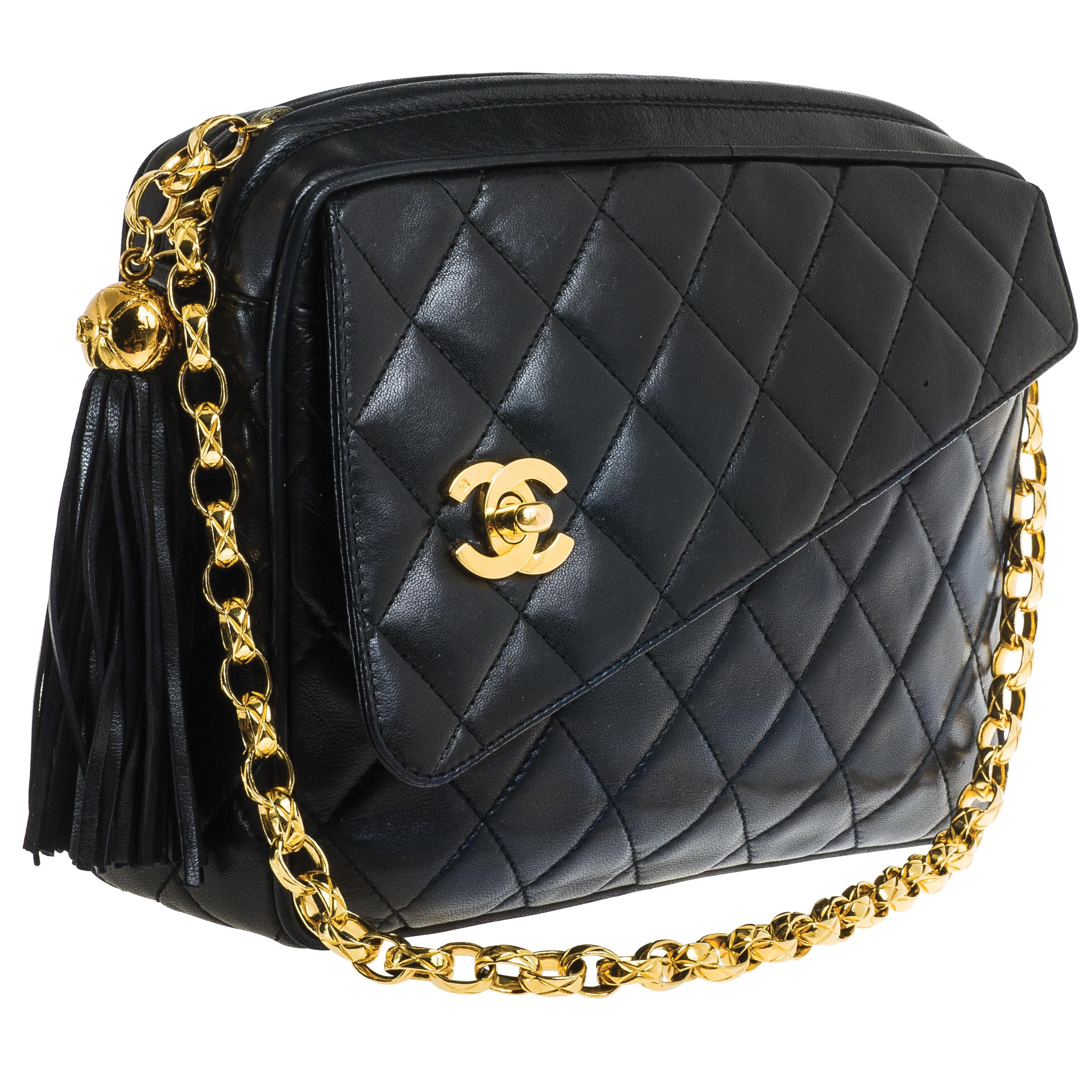 Vintage Chanel Quilted Camera Handbag