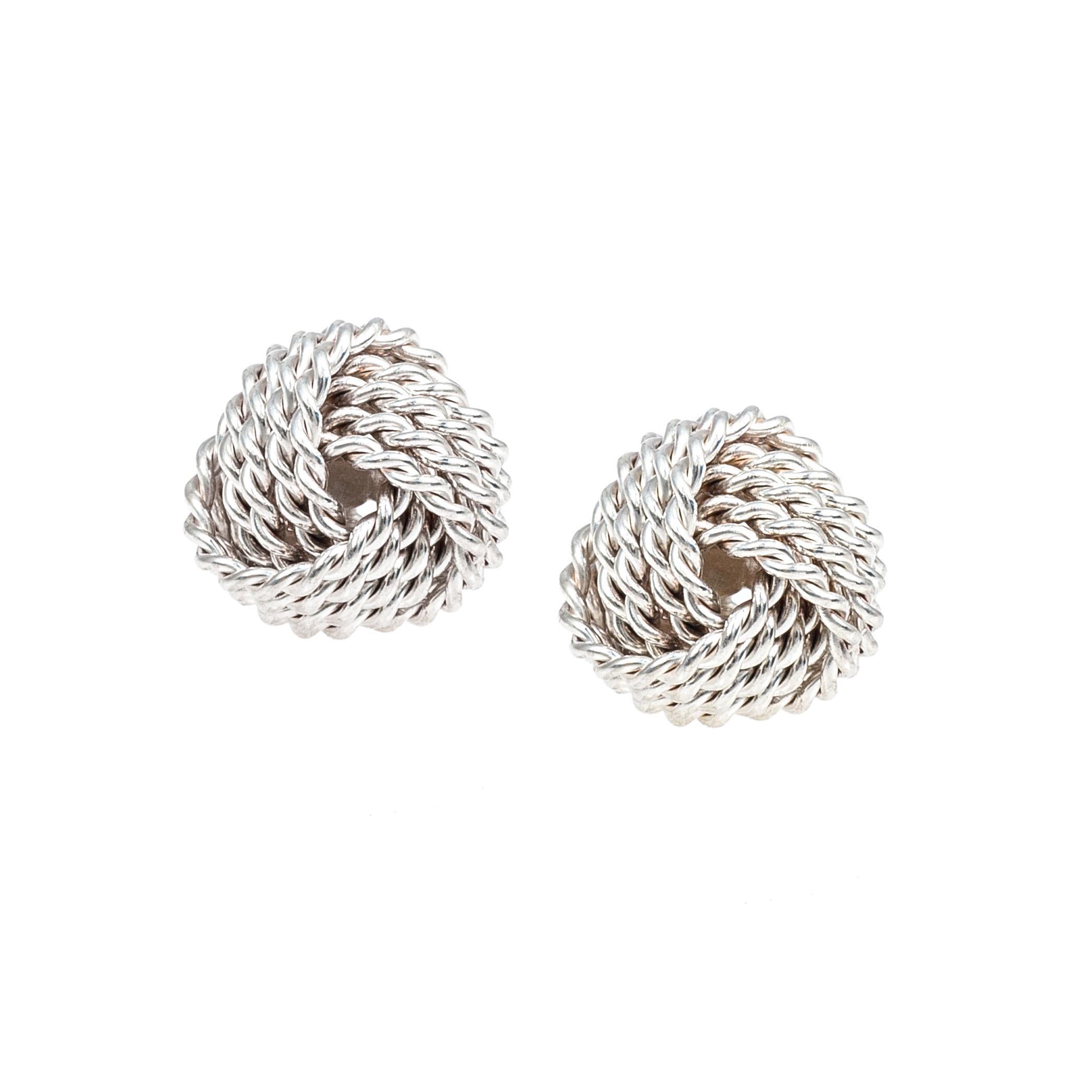 Vintage Tiffany & Co. Twist Knot Stud Earrings