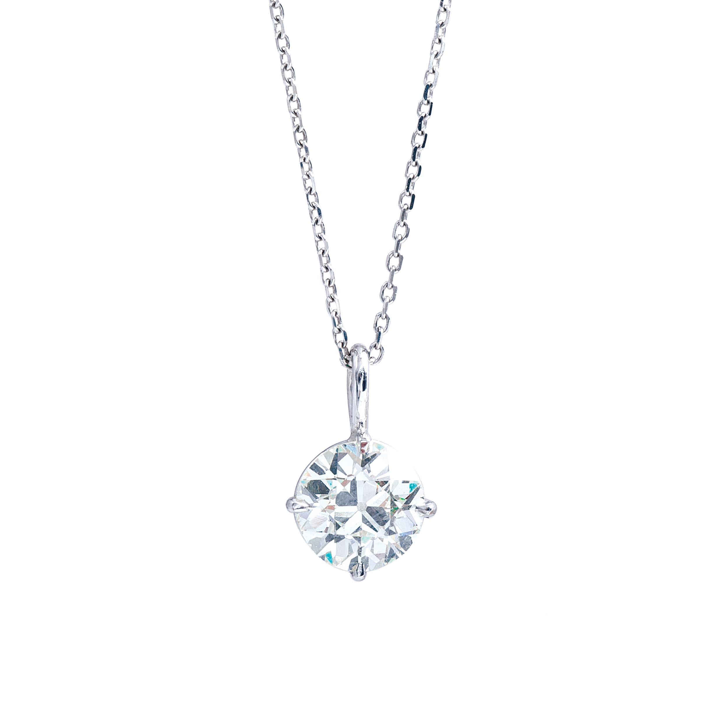 New 1.71 CT Diamond Solitaire Pendant