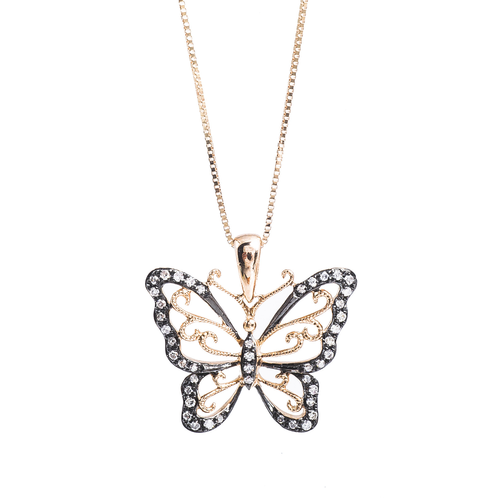 New 0.14 CTW Diamond Butterfly Pendant