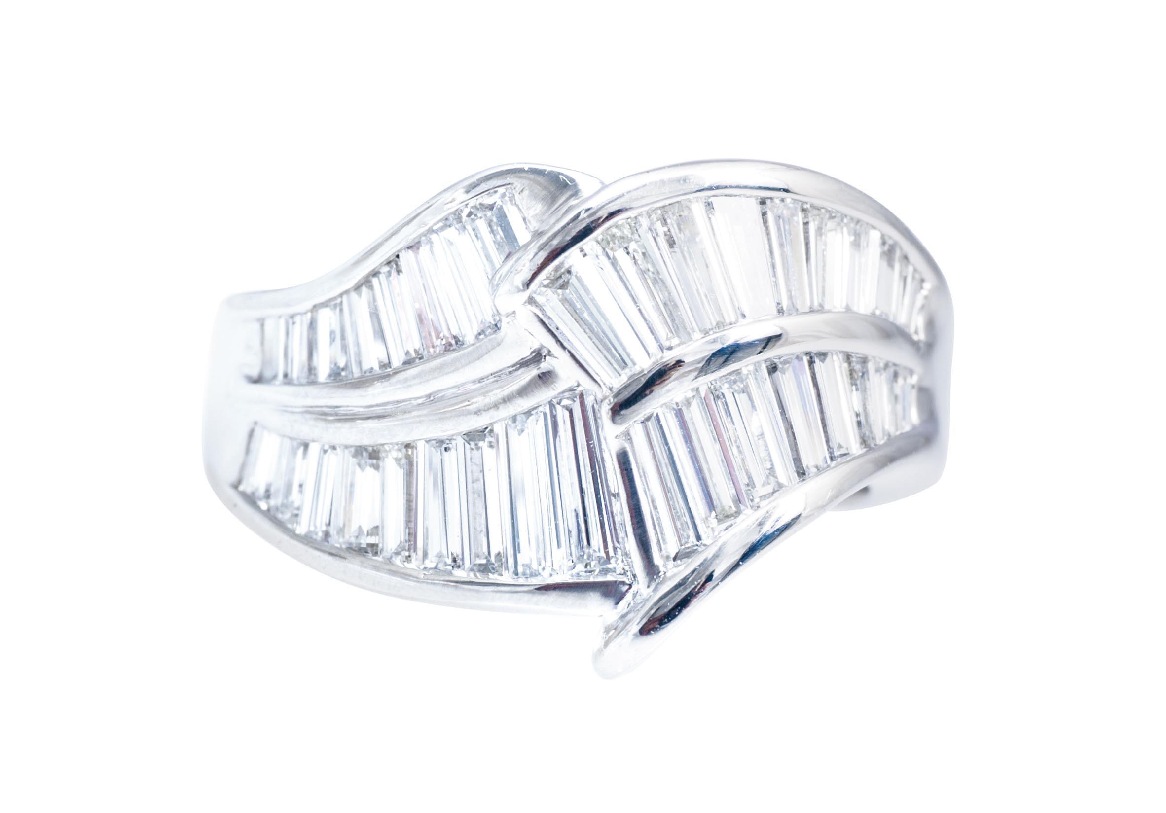 Vintage 1.79 CTW Baguette Diamond Ring