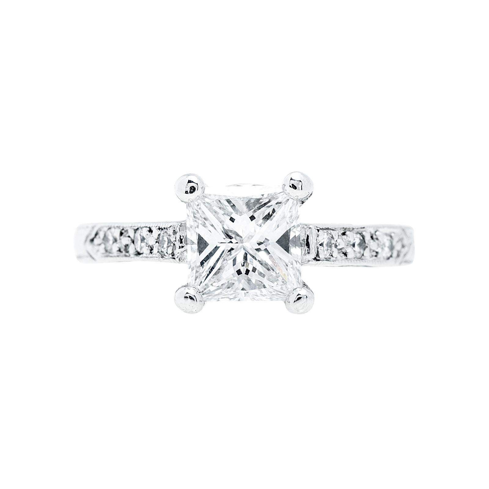 Vintage 1.08 CTW Diamond Engagement Ring