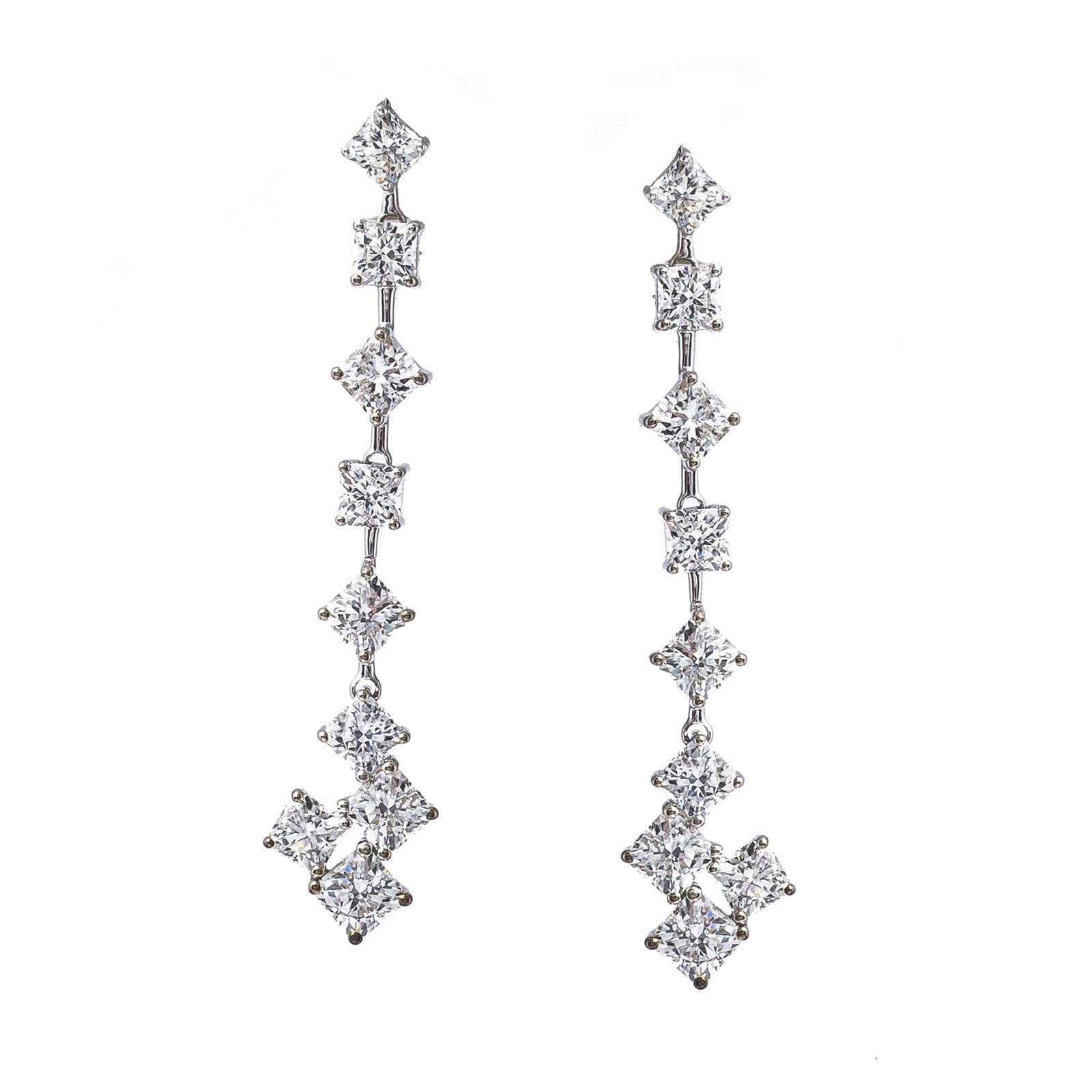 Vintage Hearts On Fire® 2.95 CTW Diamond Sweet Dream Drop Earrings