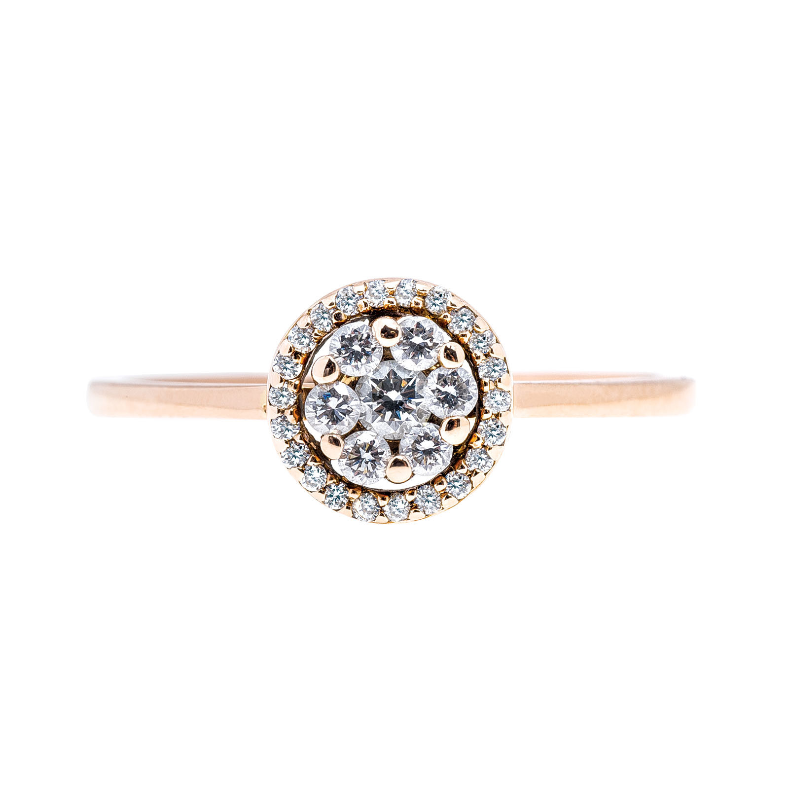 Vintage Carriere by Bony Levy Diamond Flower Ring