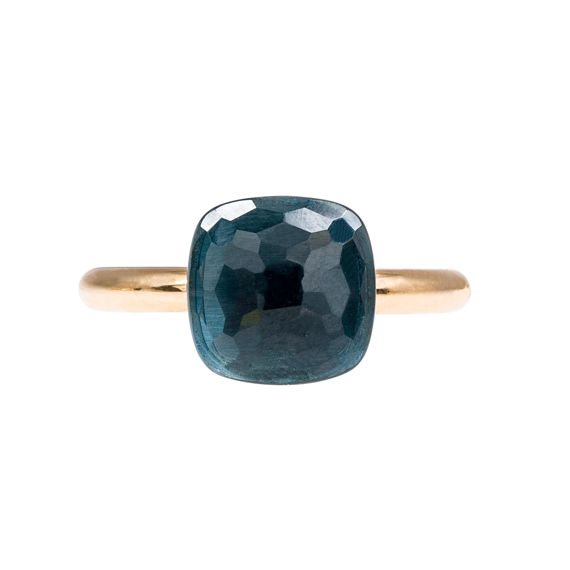Vintage Nudo London Blue Topaz Ring