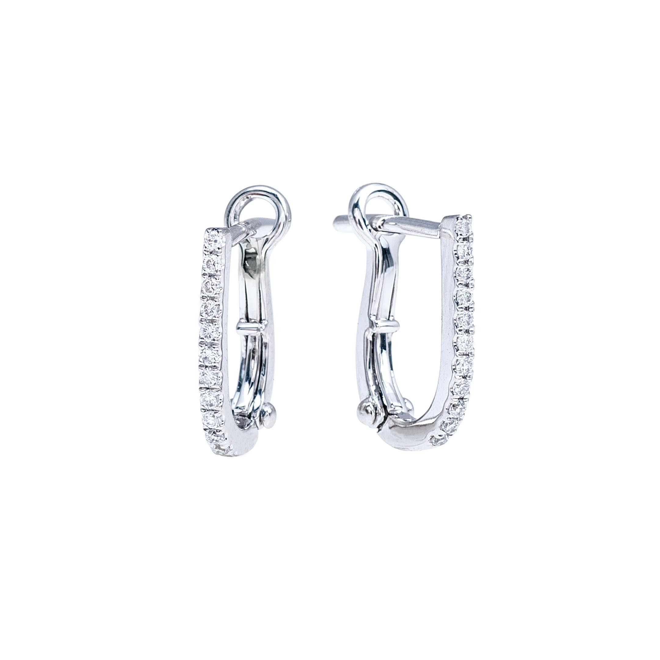 New Venetti 0.12 CTW Pavé Diamond Huggie J-Hoop Earrings