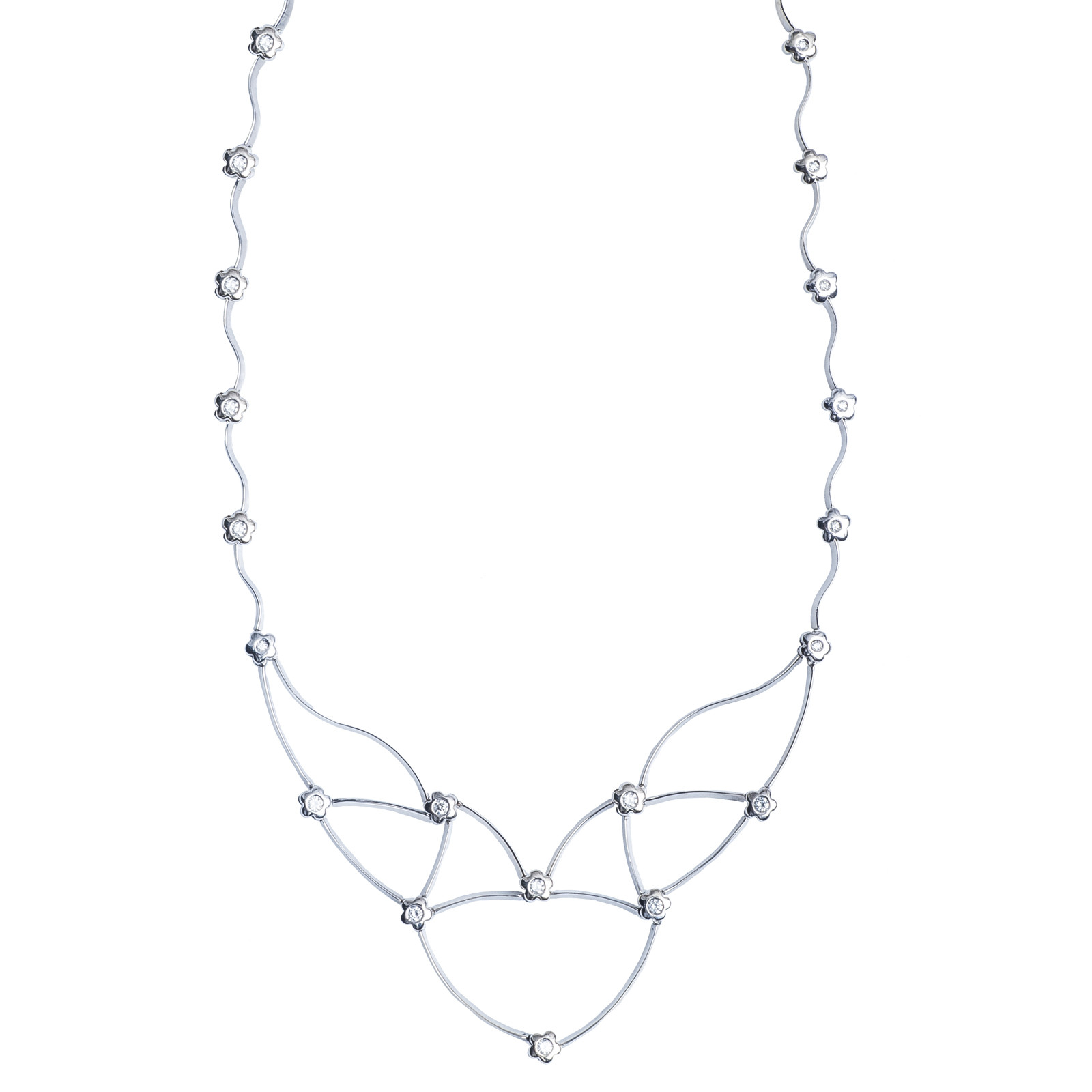 Vintage 0.52 CTW Diamond Flower Necklace