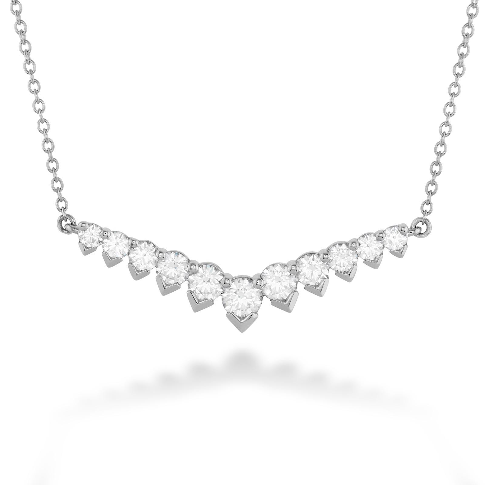 New Hearts On Fire® 1.07 CTW Diamond Aerial V Necklace
