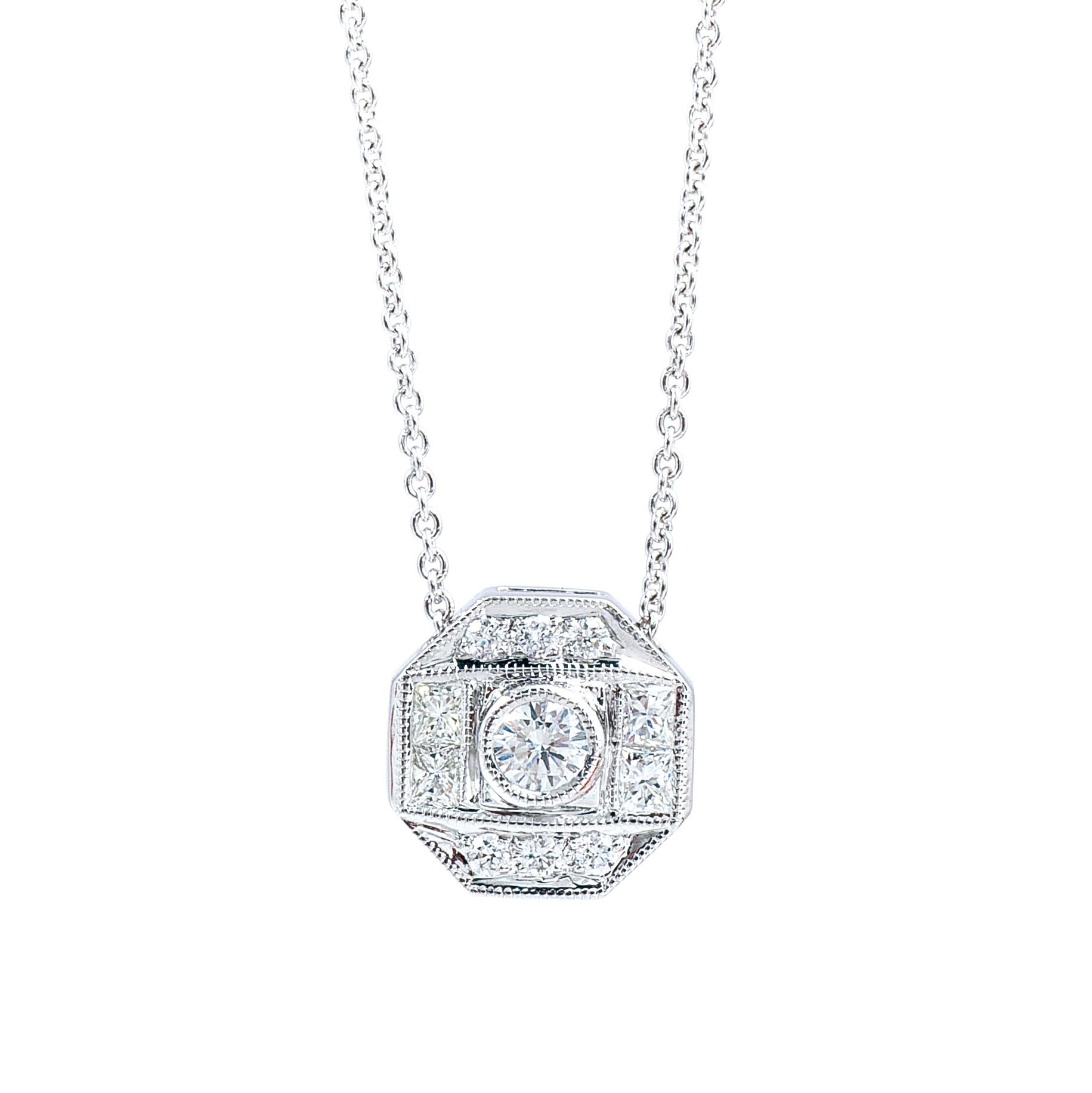 New Beverley K 0.25 CTW Diamond Octagon Necklace
